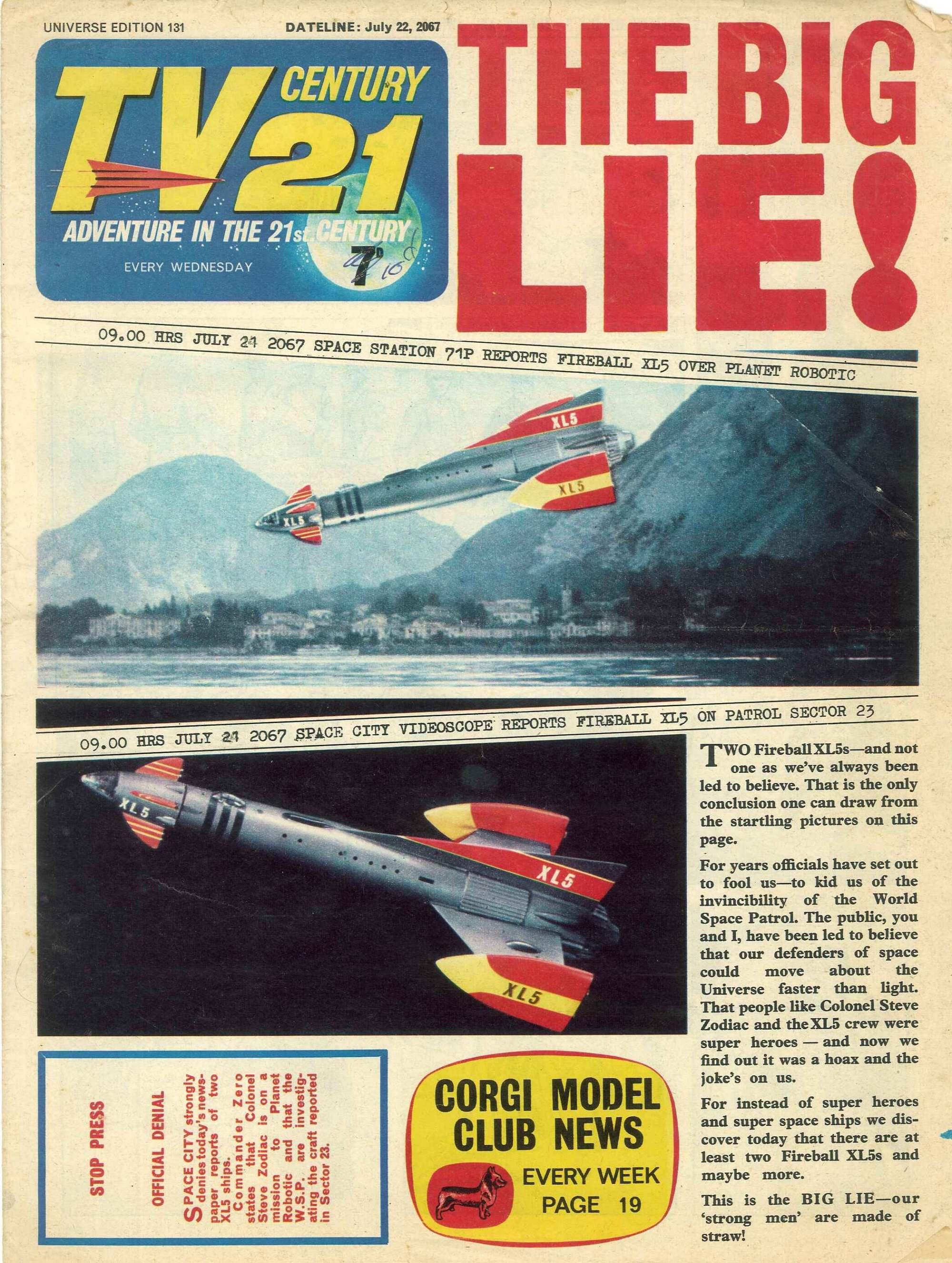 Read online TV Century 21 (TV 21) comic -  Issue #131 - 1