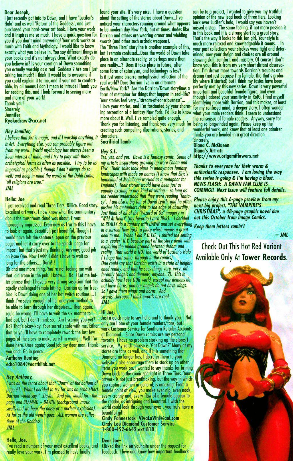 Read online Dawn: Three Tiers comic -  Issue #2 - 24