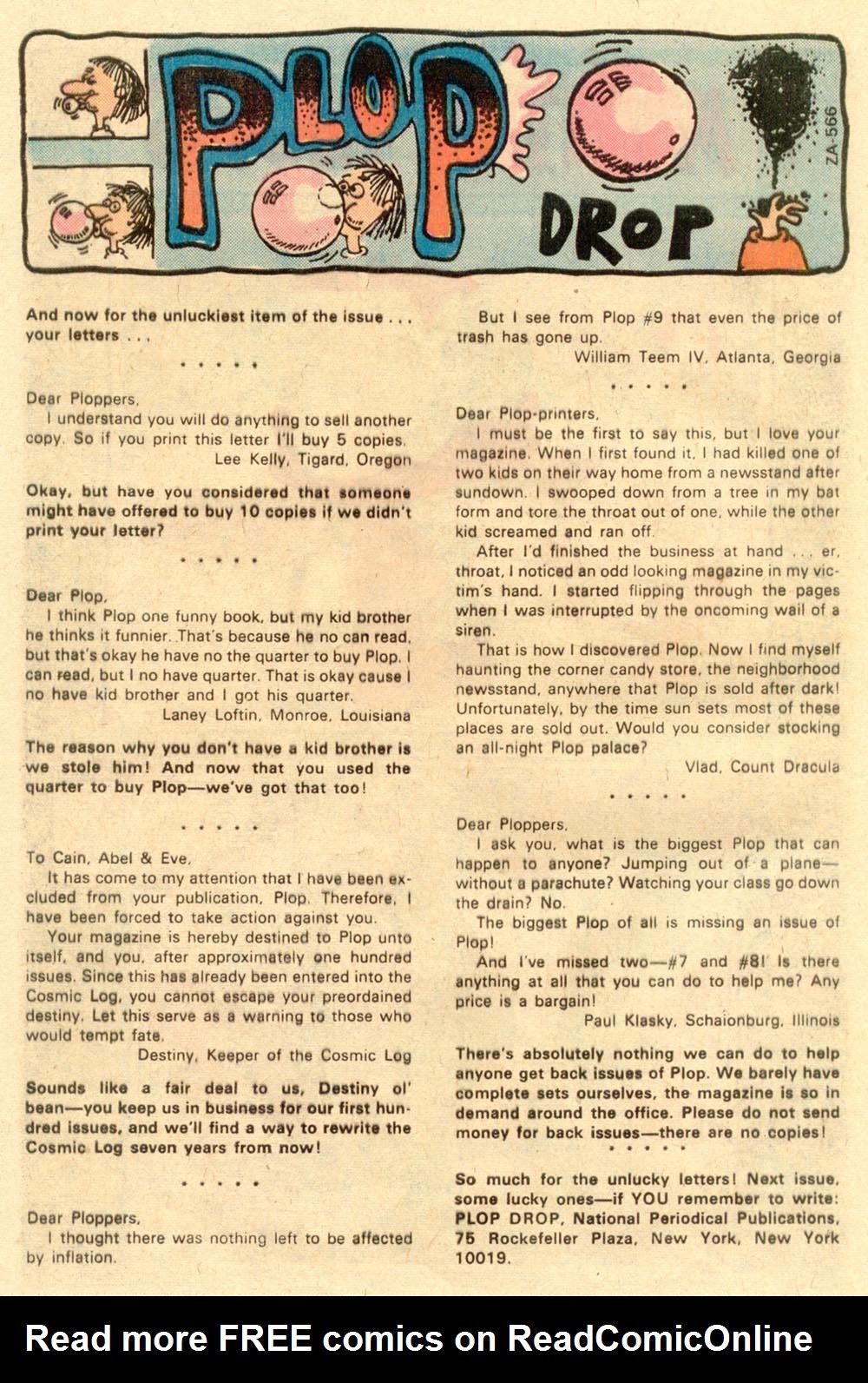 Read online Plop! comic -  Issue #13 - 27