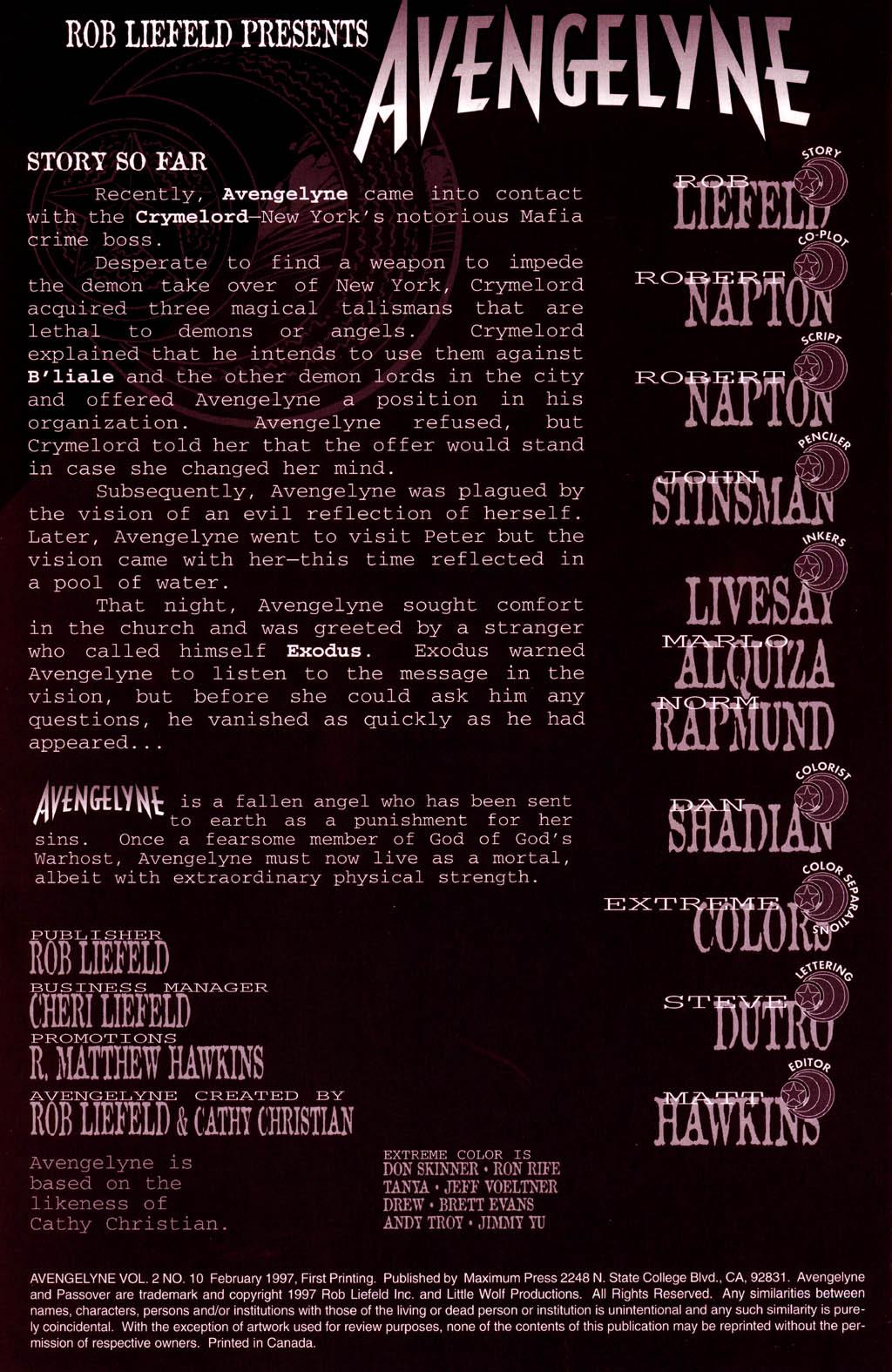 Read online Avengelyne (1996) comic -  Issue #10 - 2