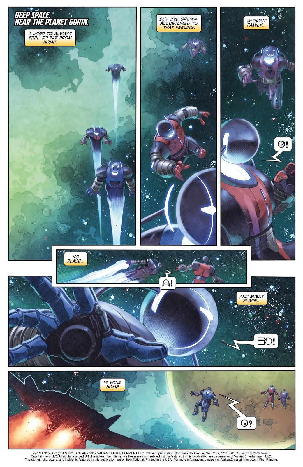 Read online X-O Manowar (2017) comic -  Issue #23 - 2