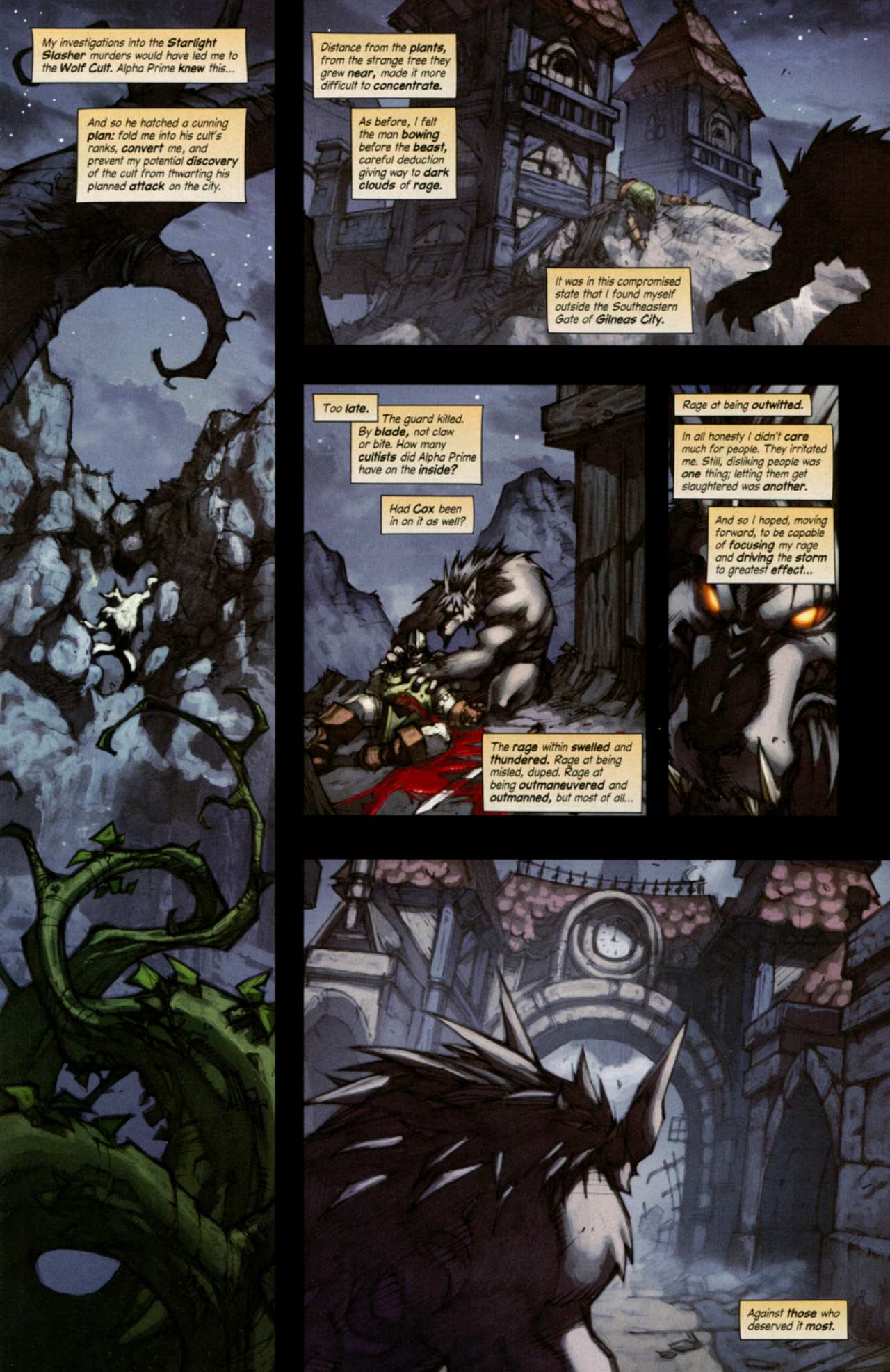 Read online World of Warcraft: Curse of the Worgen comic -  Issue #4 - 3