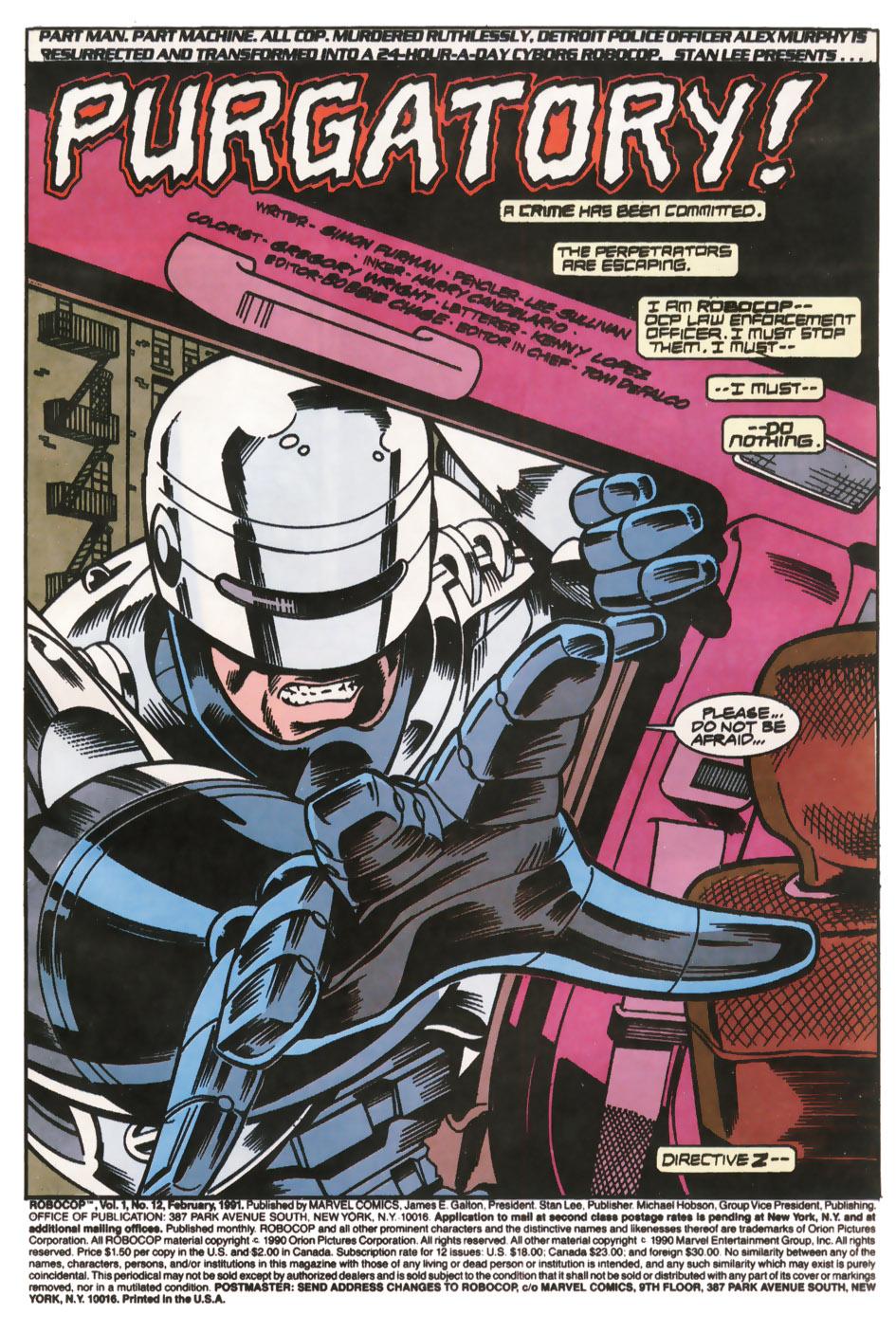 Read online Robocop (1990) comic -  Issue #12 - 2