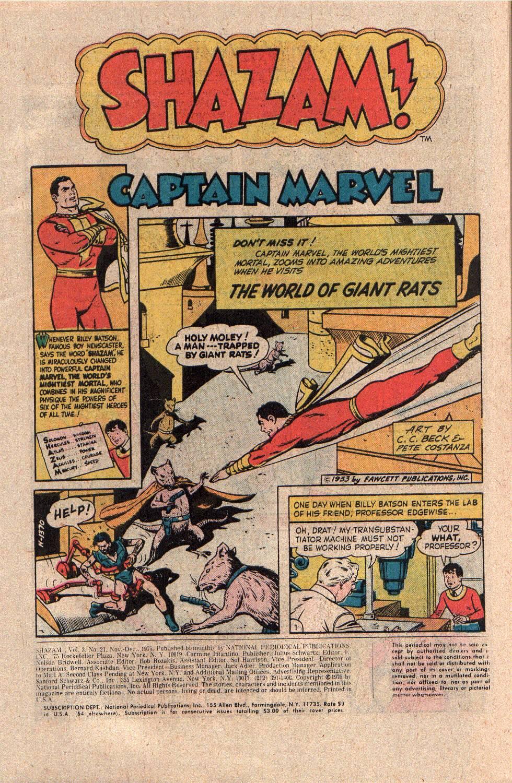 Read online Shazam! (1973) comic -  Issue #21 - 3