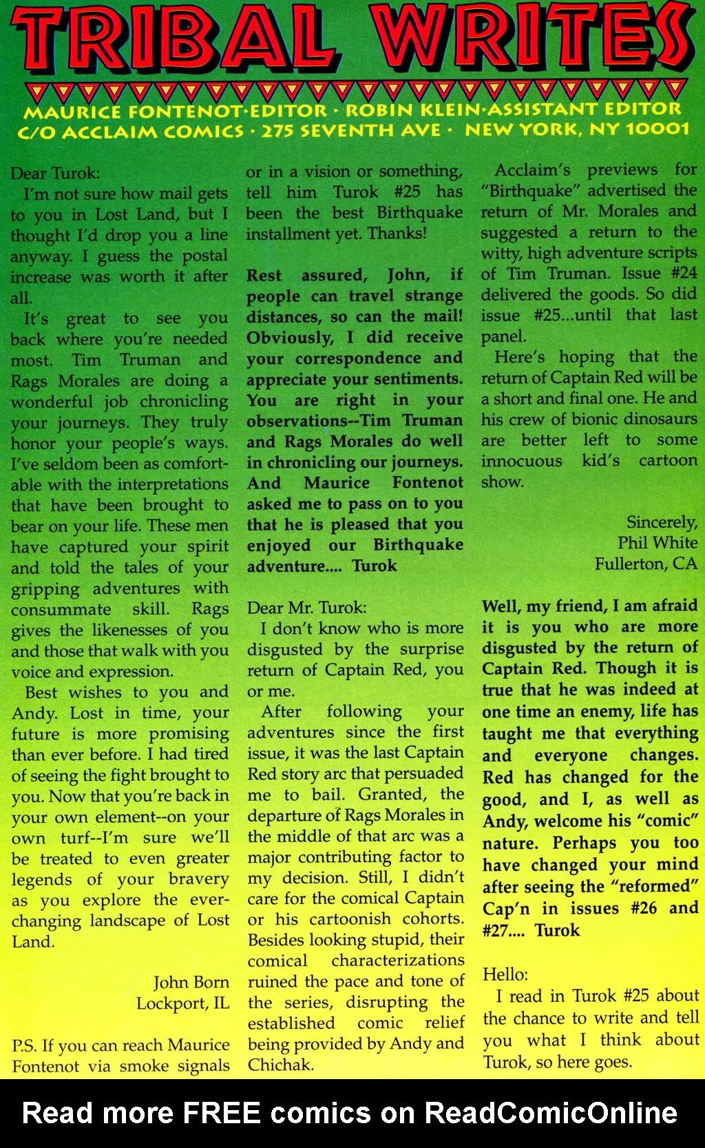 Read online Turok, Dinosaur Hunter (1993) comic -  Issue #28 - 23