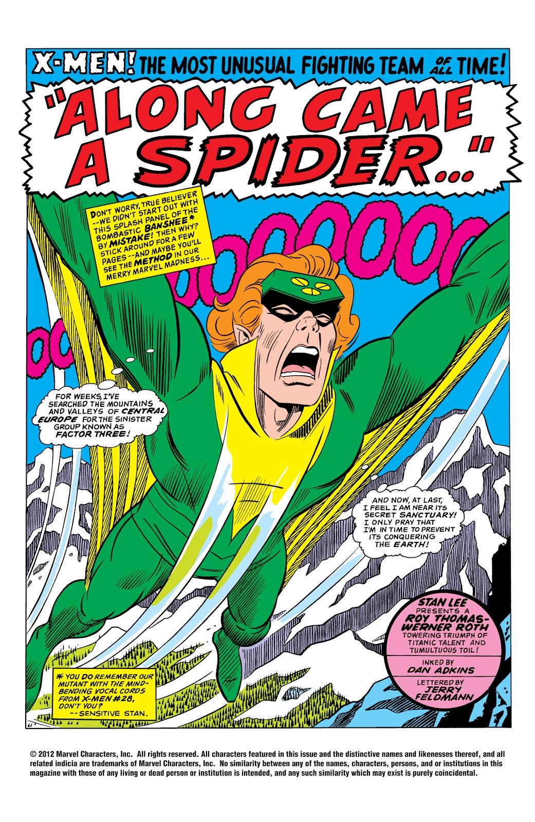 Uncanny X-Men (1963) issue 35 - Page 2