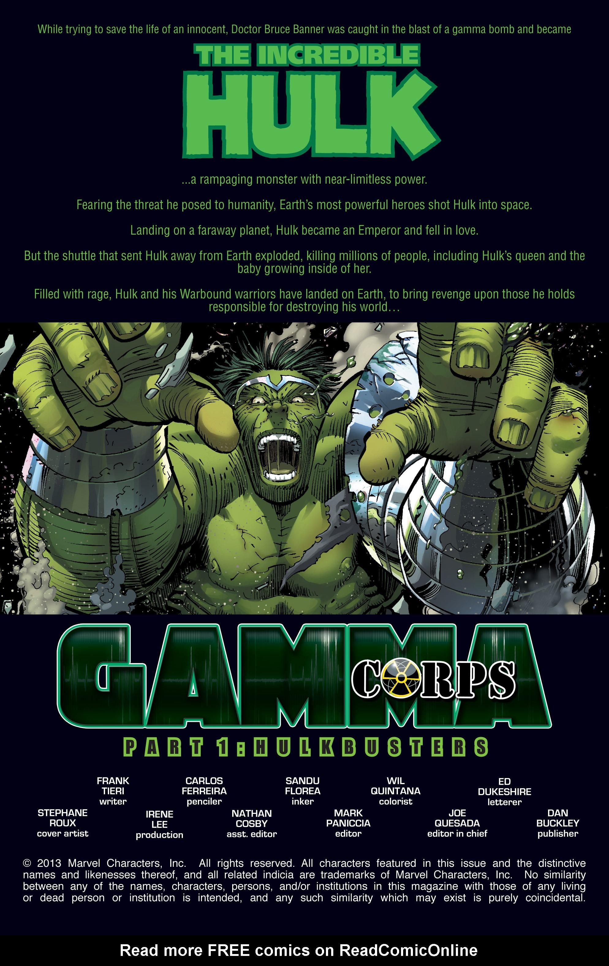 Read online World War Hulk: Gamma Corps comic -  Issue #1 - 2