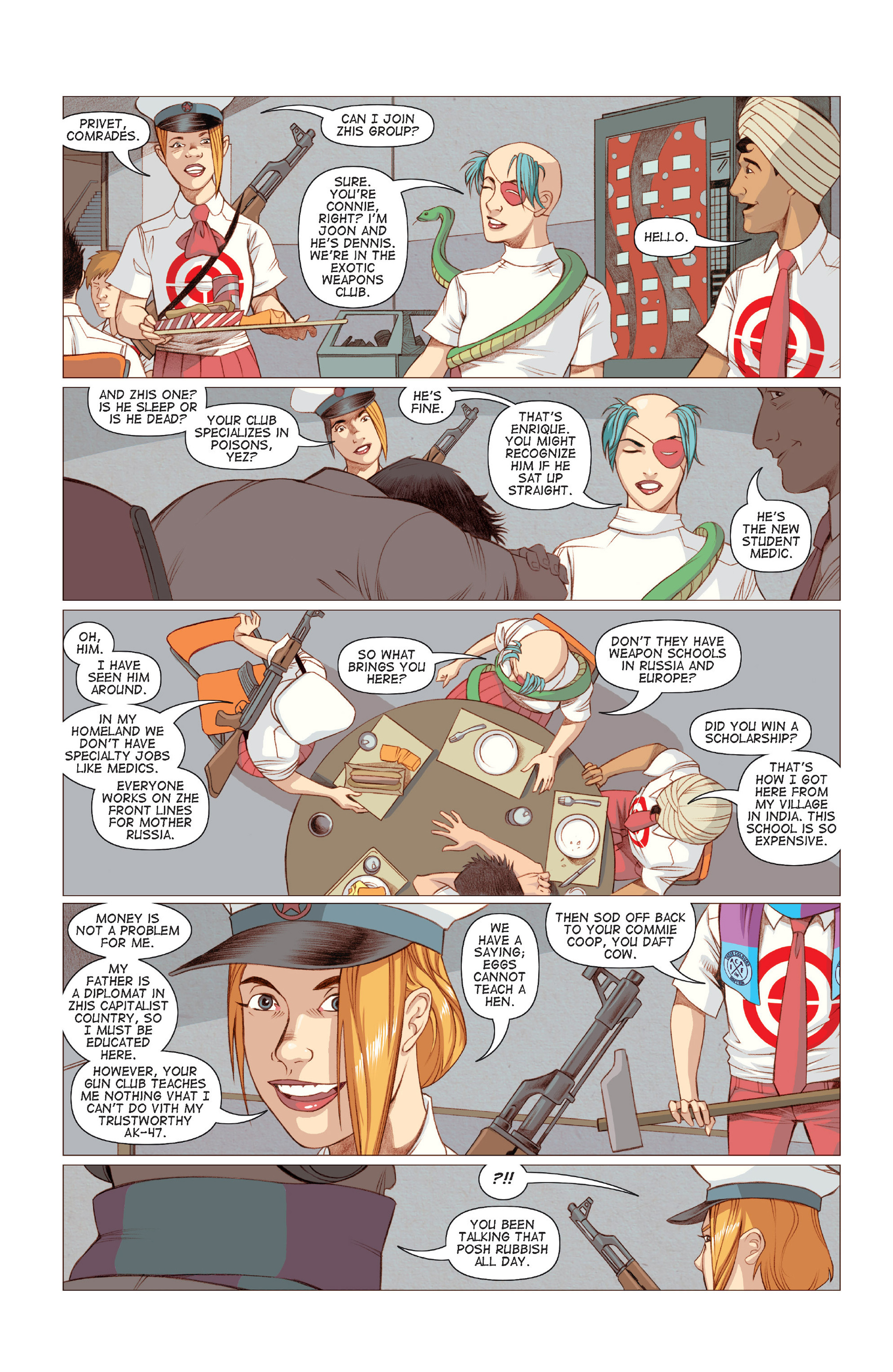 Read online Five Weapons comic -  Issue #6 - 17