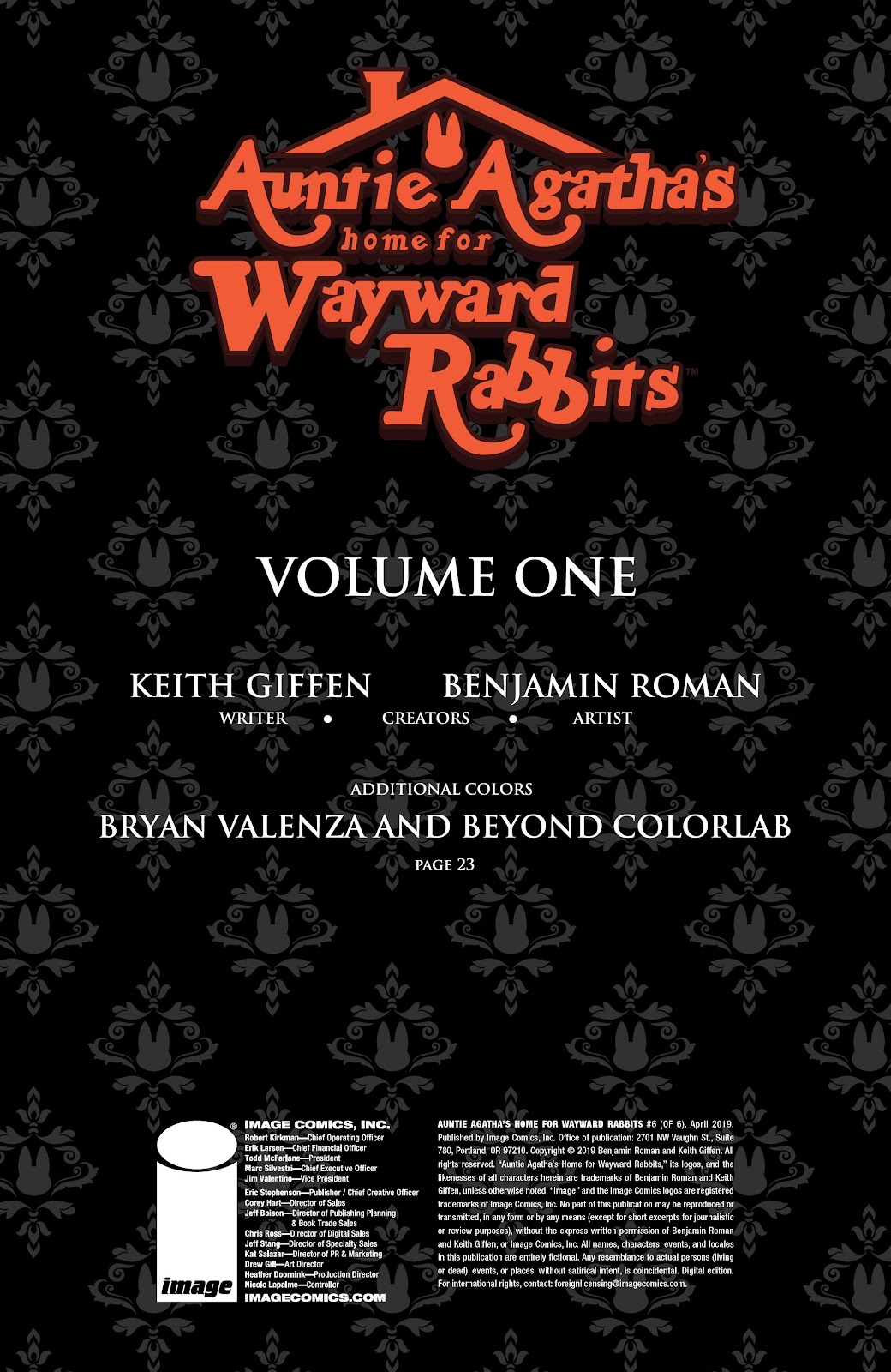 Read online Auntie Agatha's Home For Wayward Rabbits comic -  Issue #6 - 2