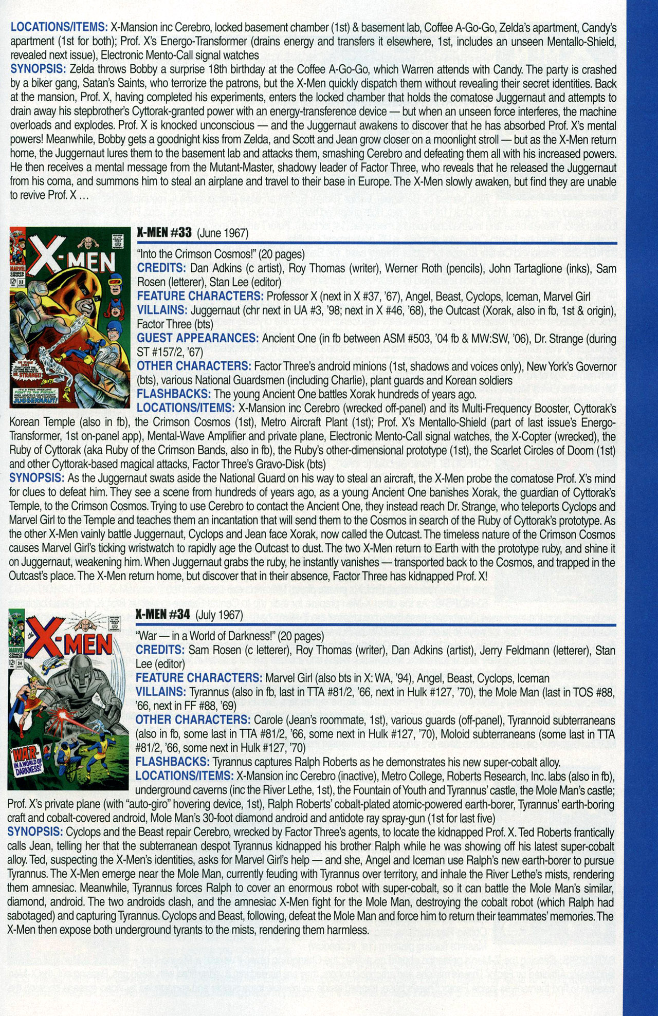 Read online Official Index to the Marvel Universe comic -  Issue #1 - 57