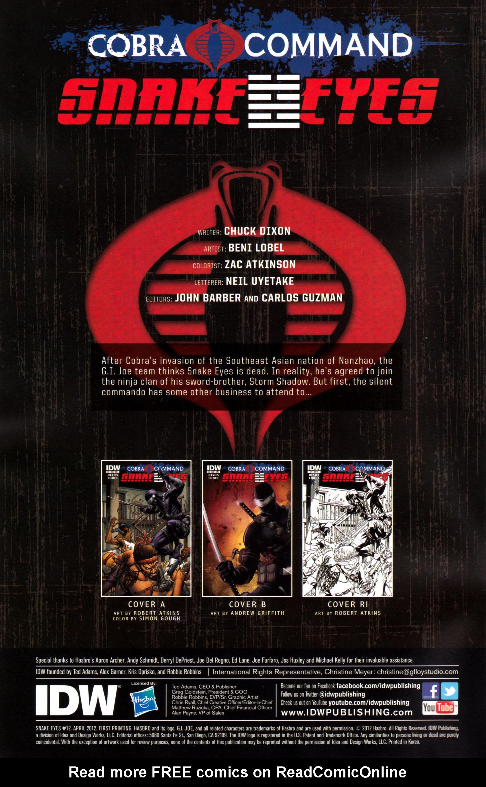Read online G.I. Joe: Snake Eyes comic -  Issue #12 - 3