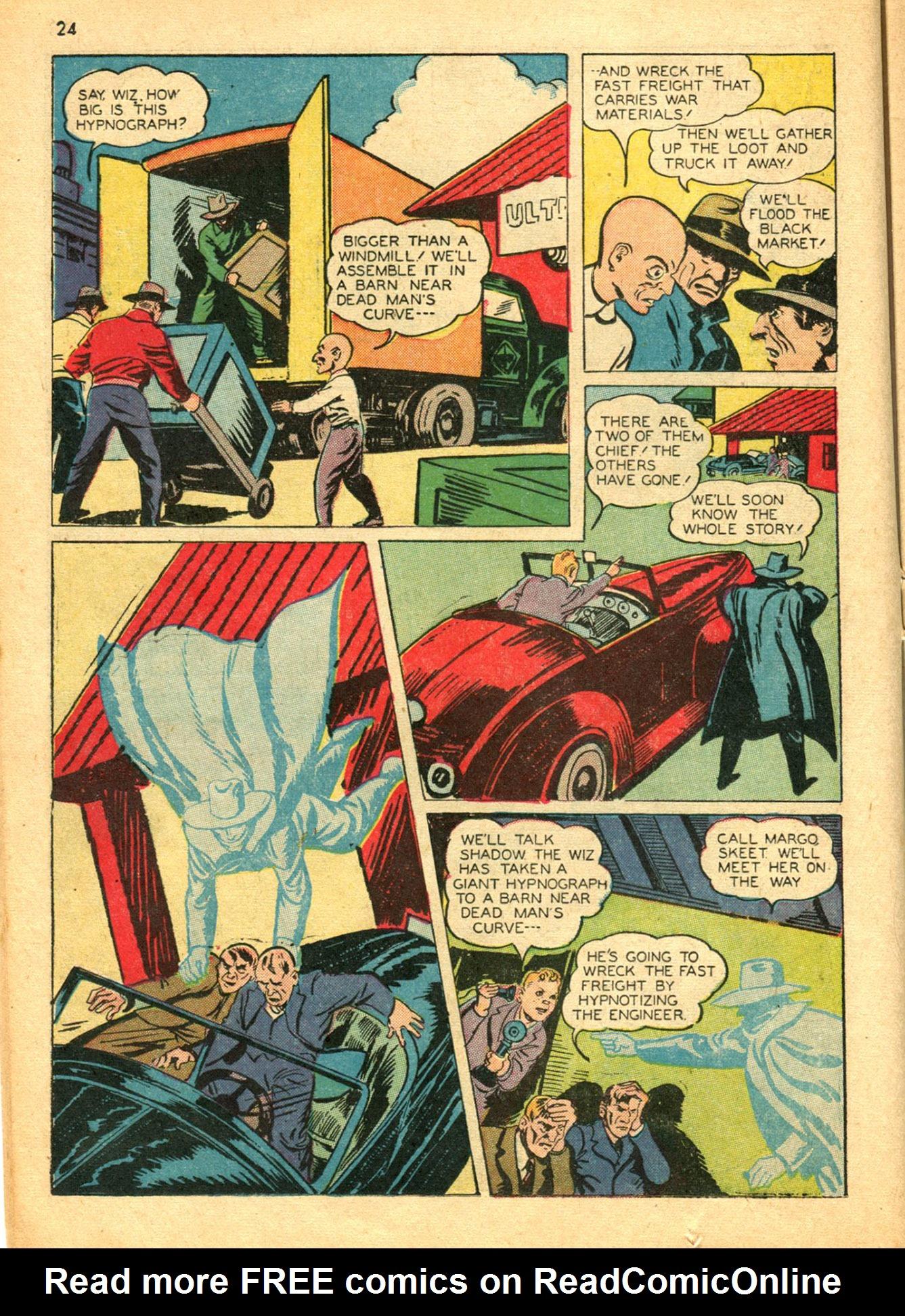 Read online Shadow Comics comic -  Issue #30 - 24
