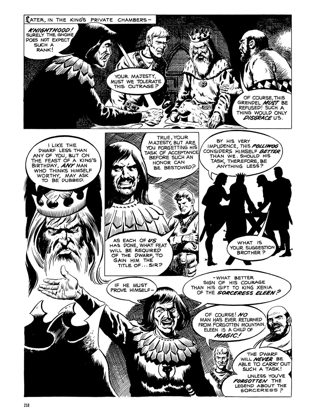 Read online Eerie Archives comic -  Issue # TPB 5 - 219