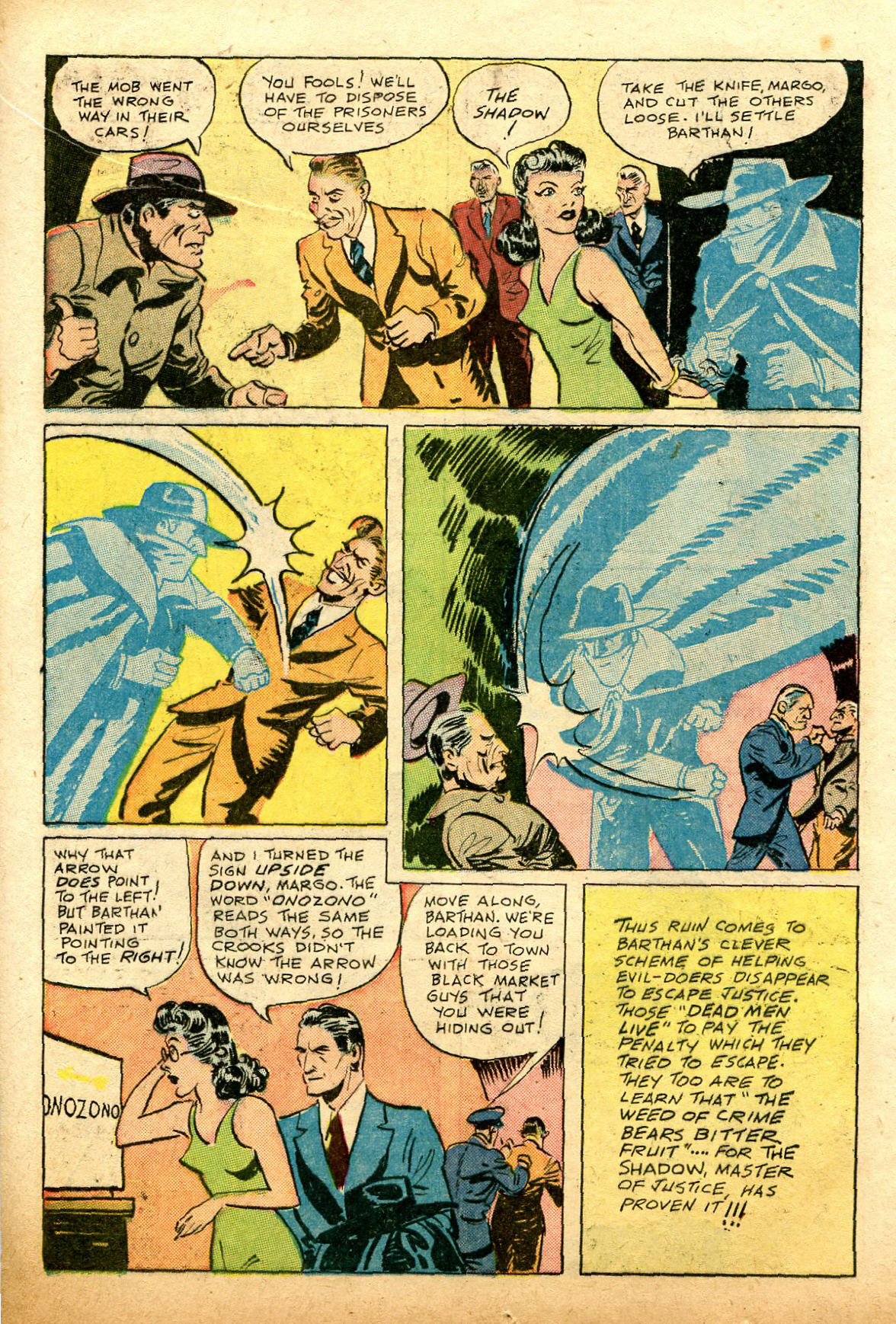 Read online Shadow Comics comic -  Issue #74 - 16