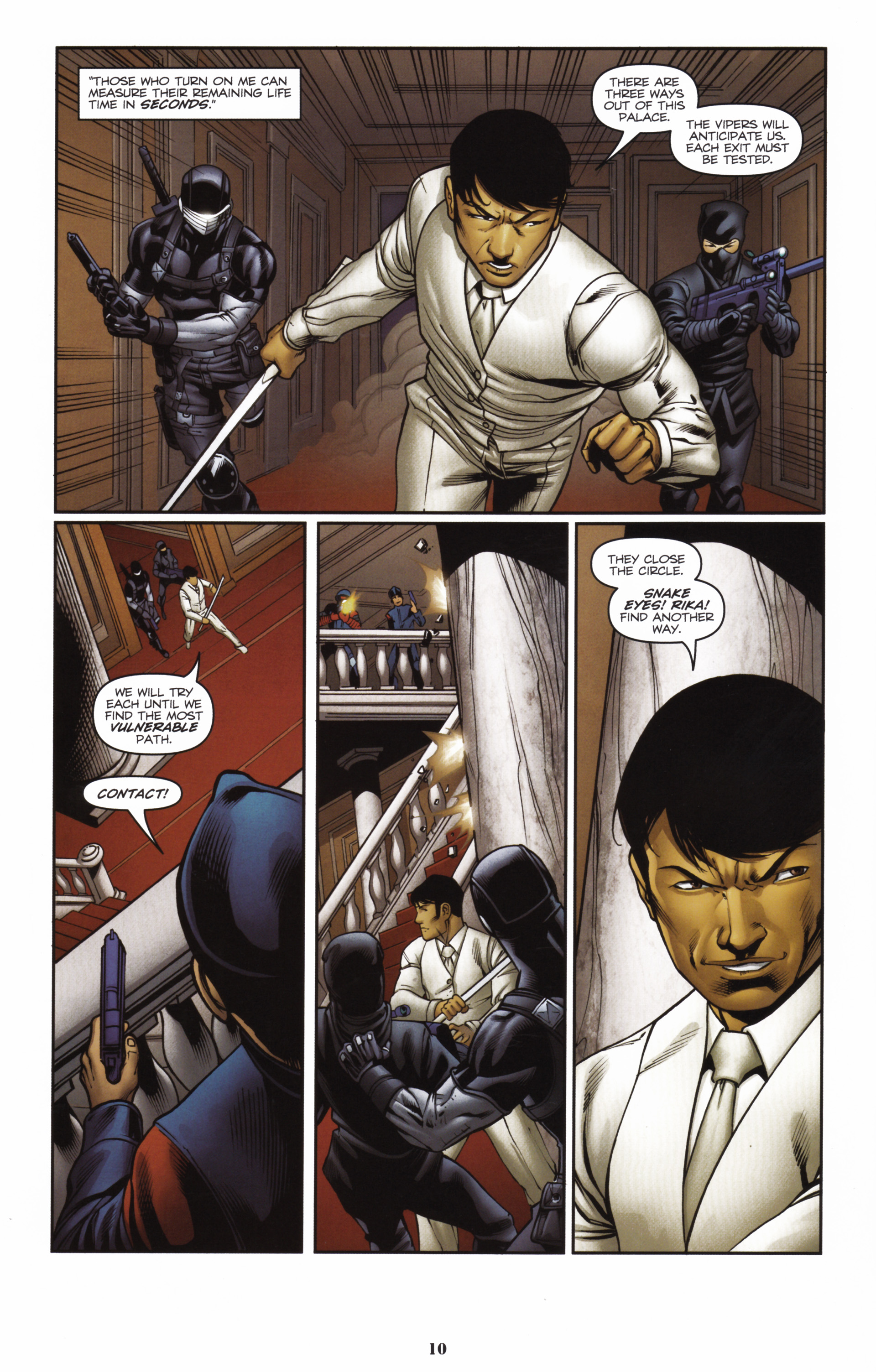 Read online Snake Eyes and Storm Shadow comic -  Issue #16 - 12