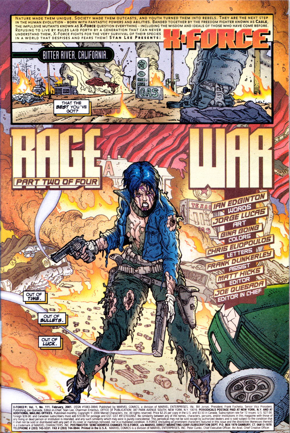 Read online X-Force (1991) comic -  Issue #111 - 2