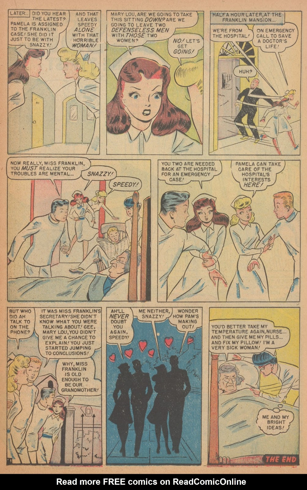 Read online Nellie The Nurse (1945) comic -  Issue #18 - 31