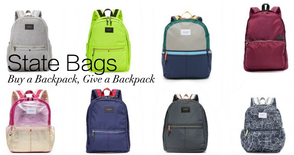 State Bags: Buy a Backpack, Give a Backpack.