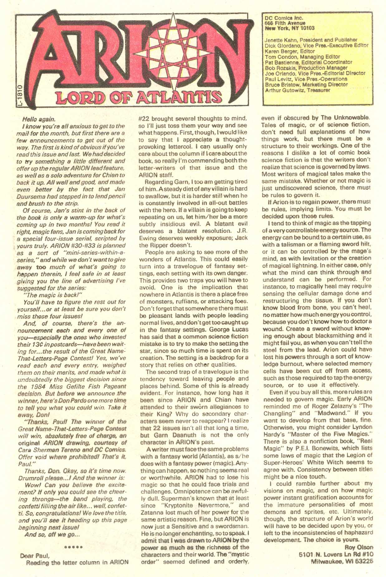 Read online Arion, Lord of Atlantis comic -  Issue #28 - 25