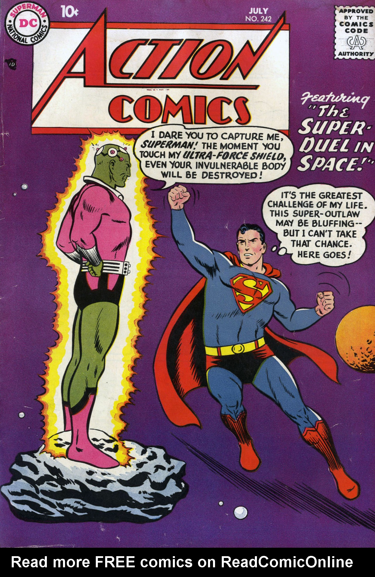 Read online Action Comics (1938) comic -  Issue #242 - 1