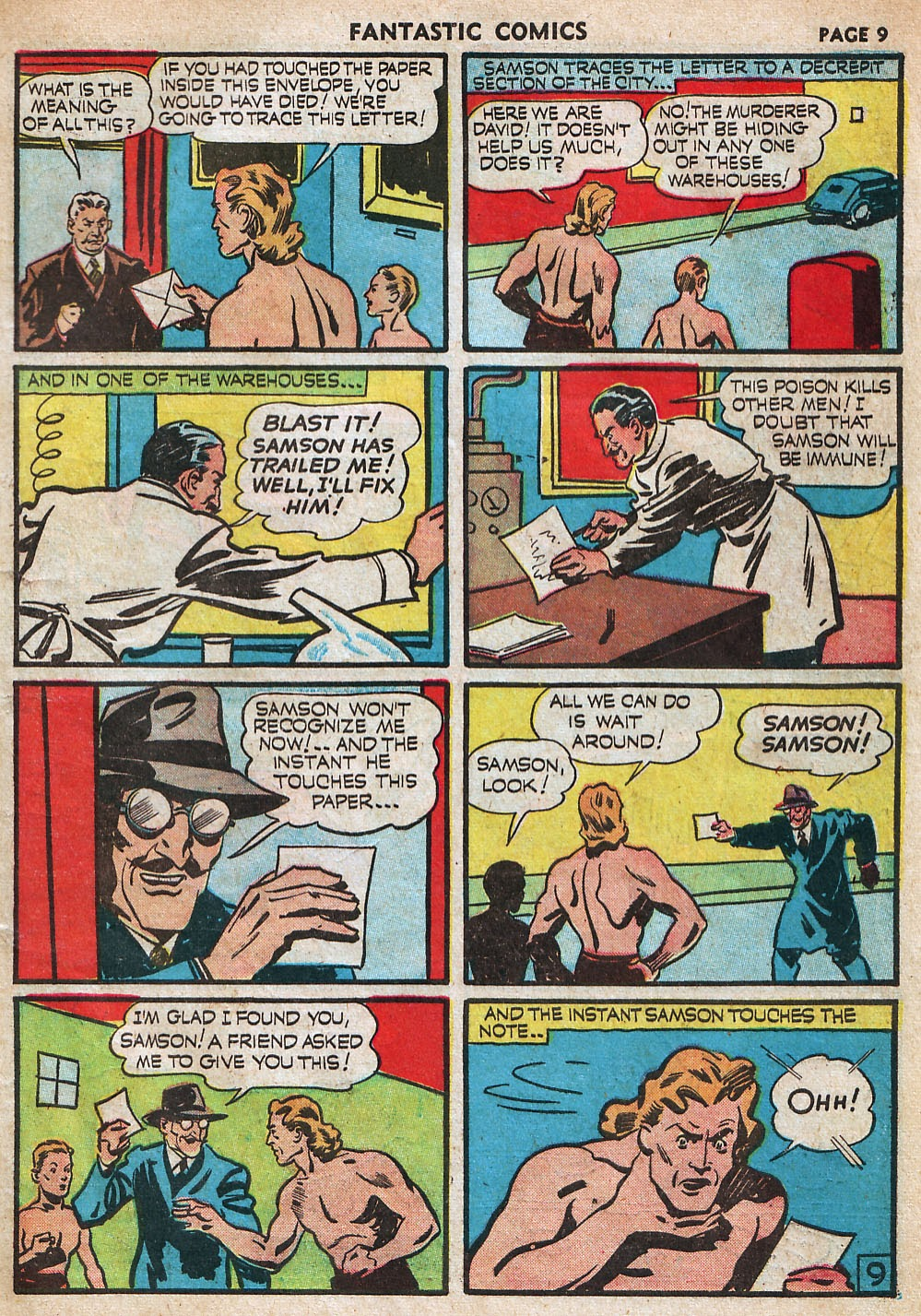 Read online Fantastic Comics comic -  Issue #18 - 11