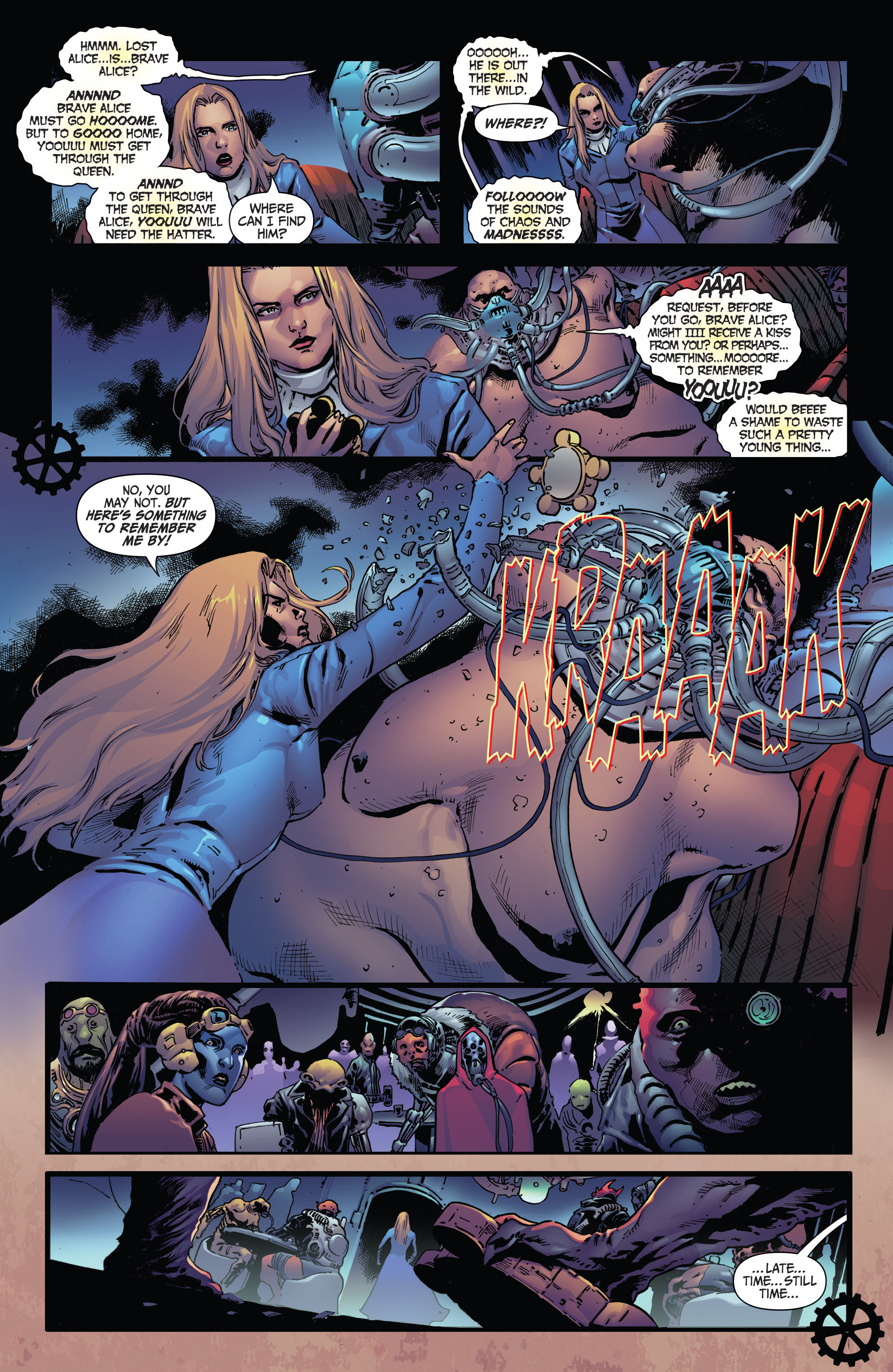 Read online Steampunk: Alice in Wonderland comic -  Issue # Full - 15