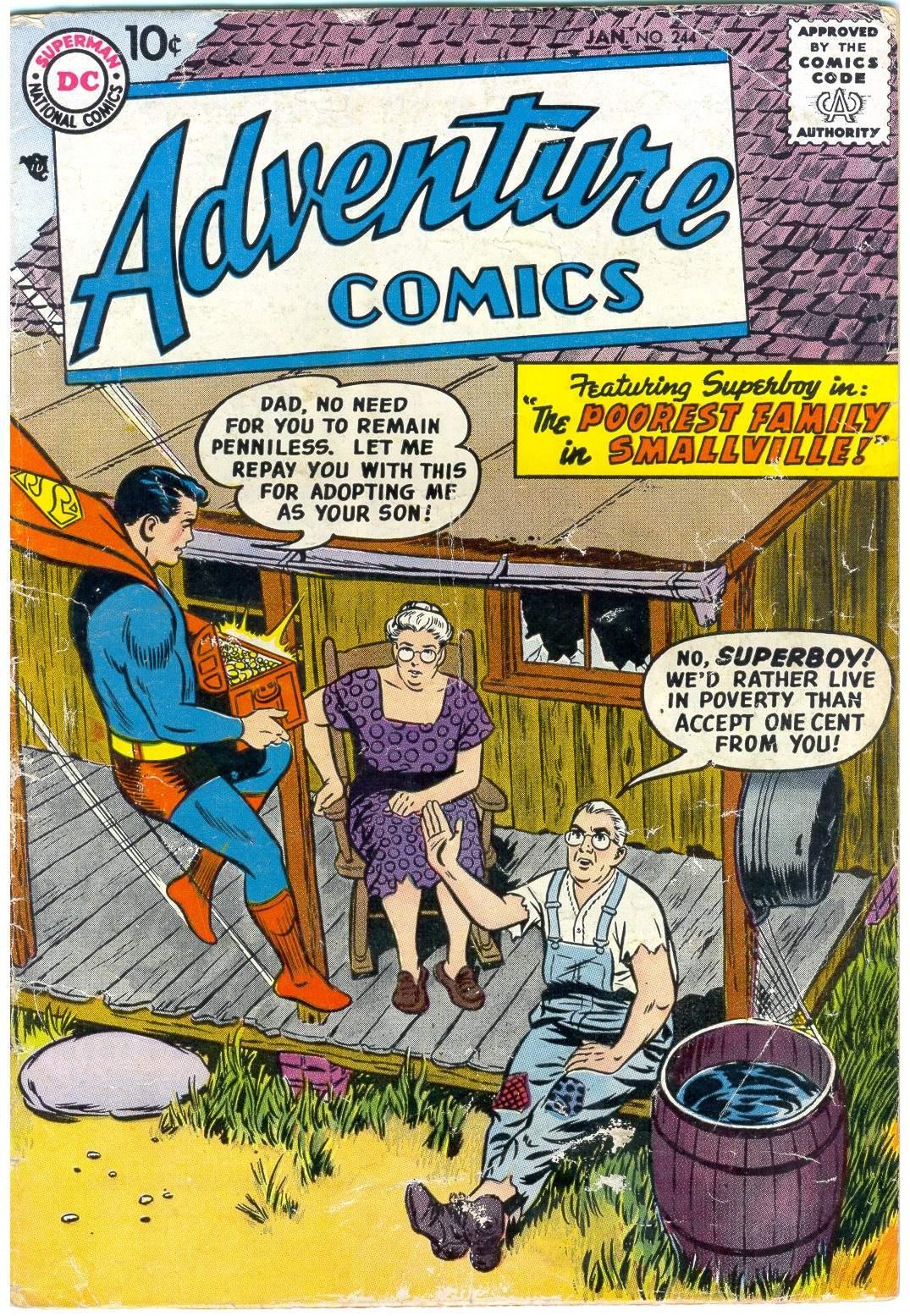 Read online Adventure Comics (1938) comic -  Issue #244 - 1