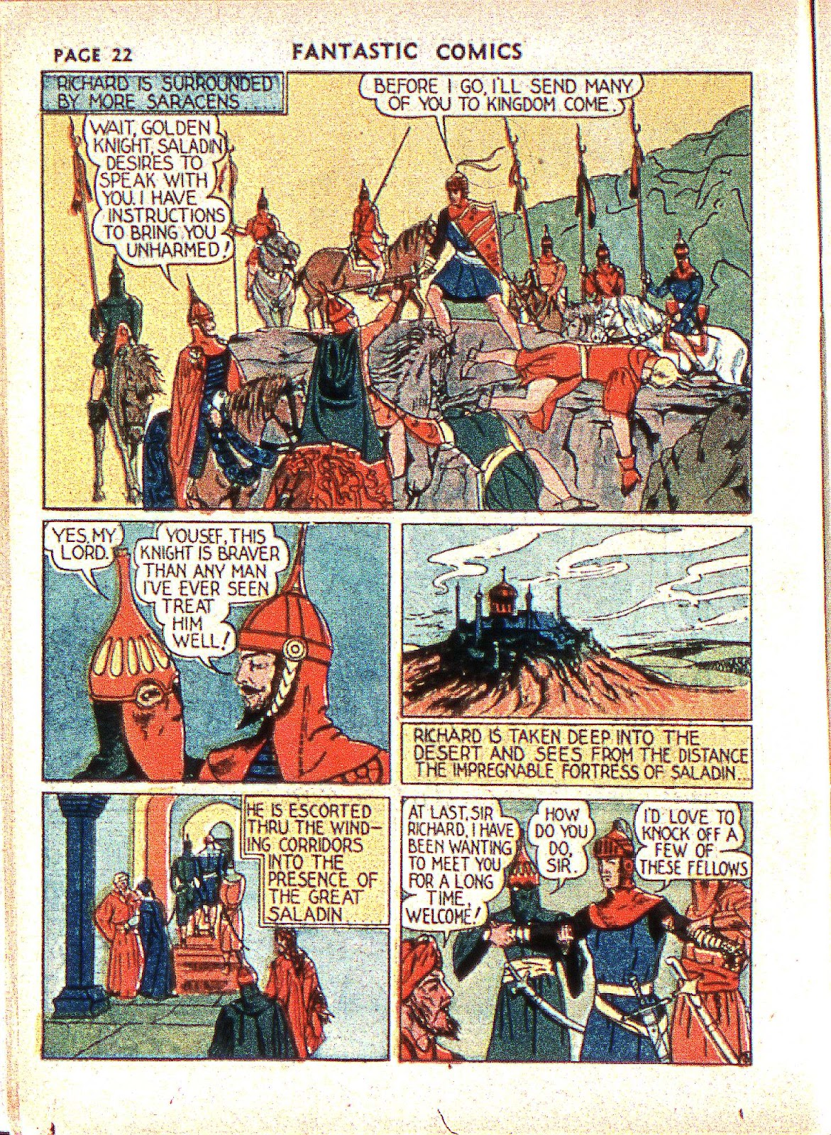 Read online Fantastic Comics comic -  Issue #2 - 24