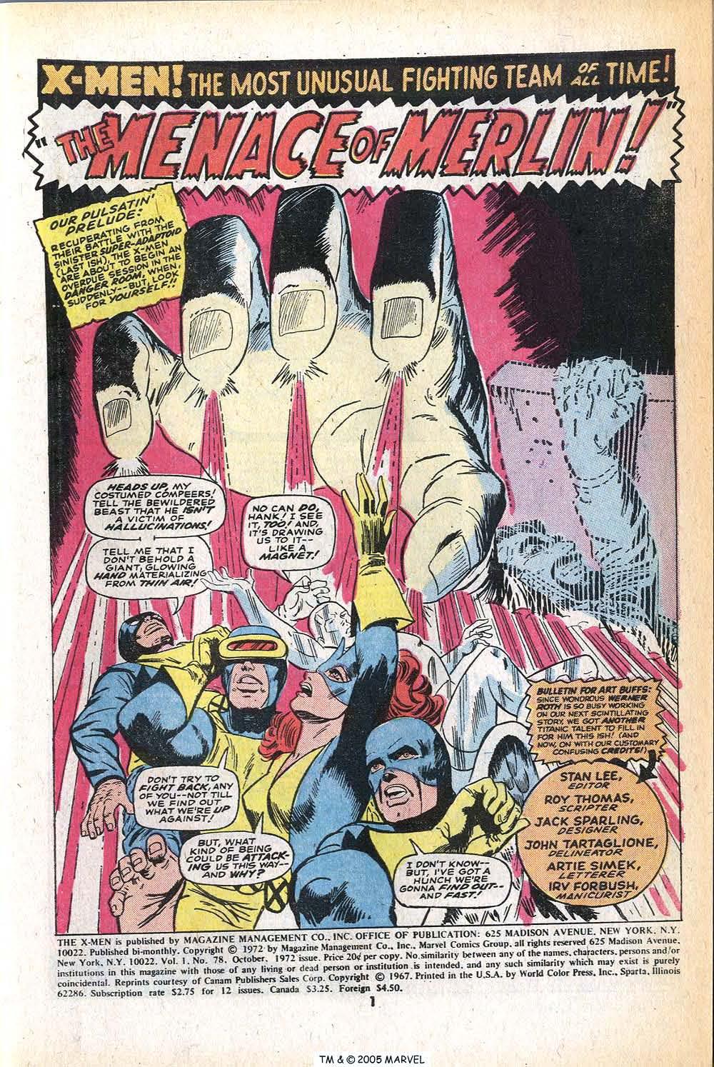 Read online Uncanny X-Men (1963) comic -  Issue #78 - 3