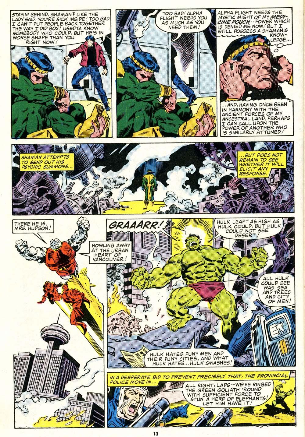 Read online Alpha Flight (1983) comic -  Issue #29 - 13