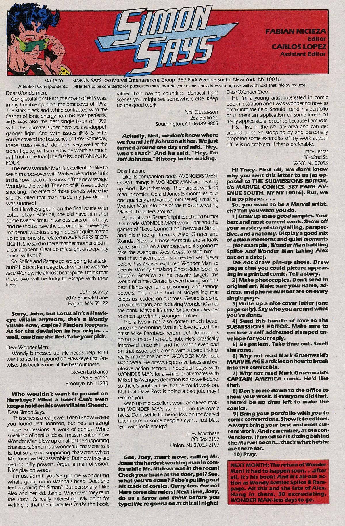 Read online Wonder Man (1991) comic -  Issue #20 - 24