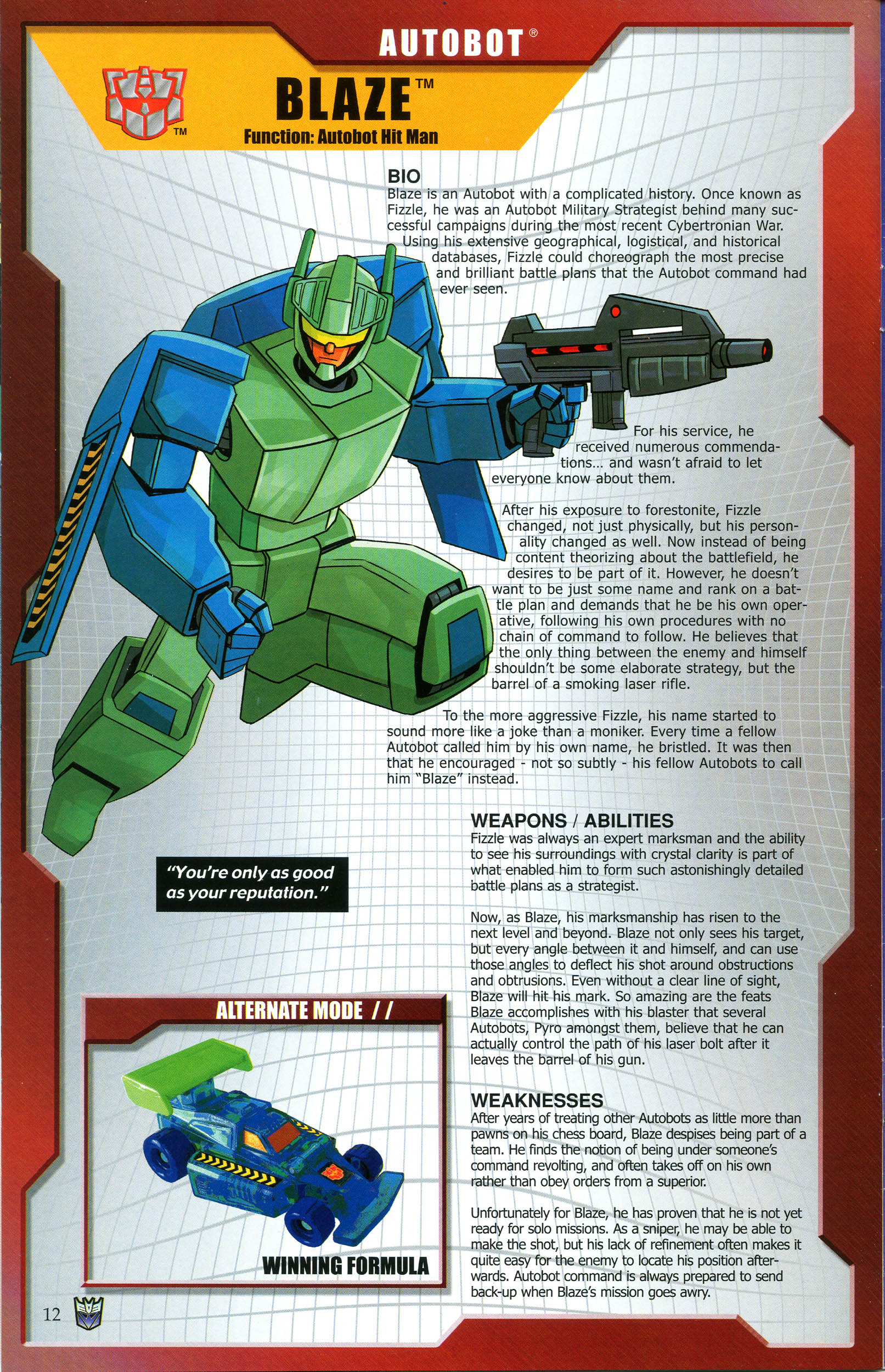 Read online Transformers: Collectors' Club comic -  Issue #47 - 12
