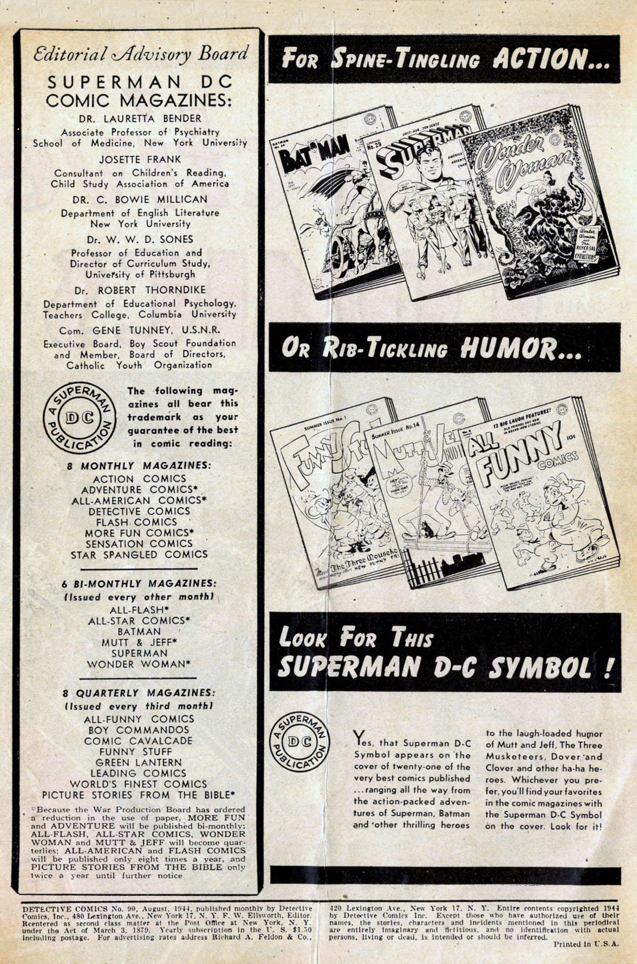 Read online Detective Comics (1937) comic -  Issue #90 - 2