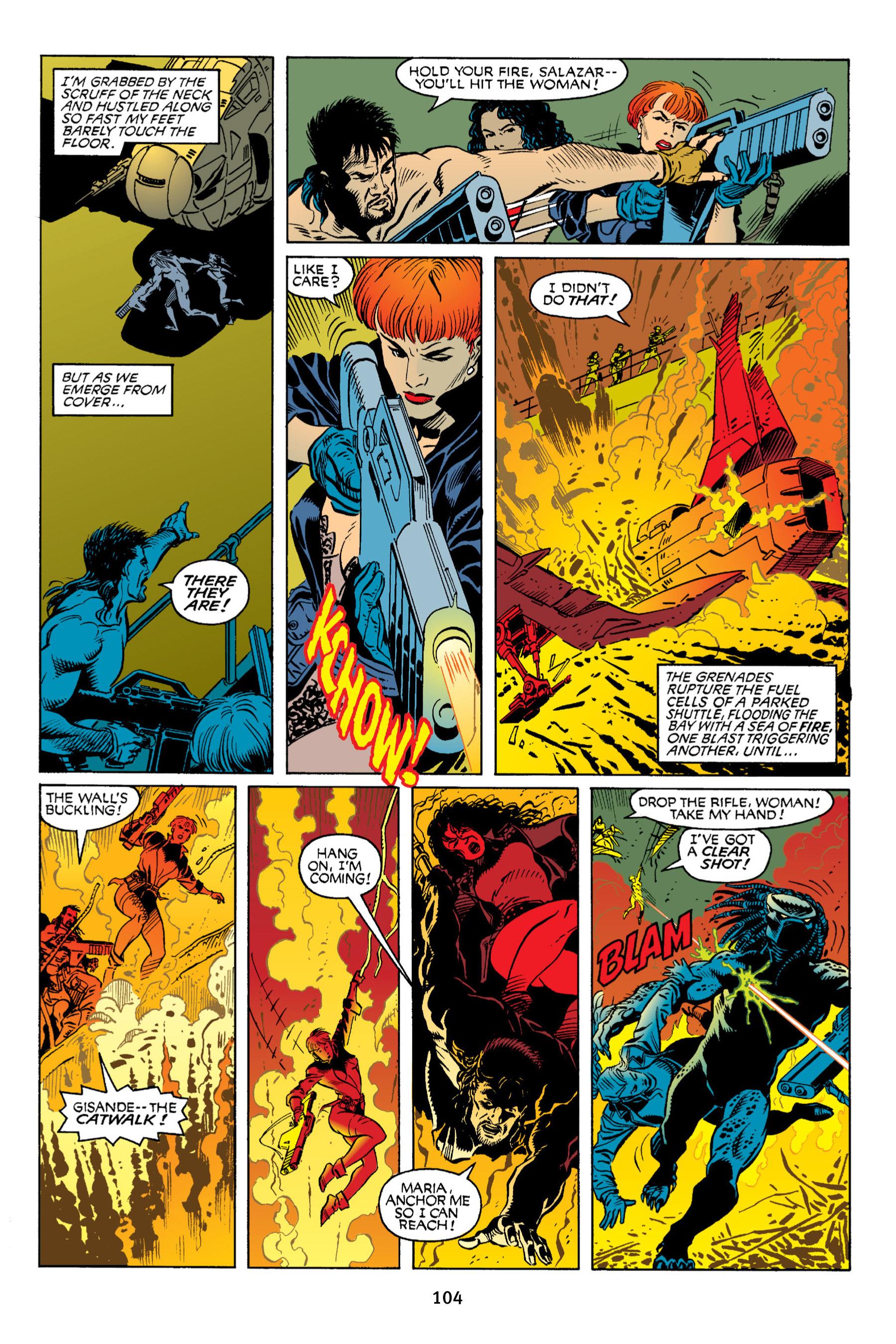 Read online Aliens vs. Predator Omnibus comic -  Issue # _TPB 2 Part 1 - 103