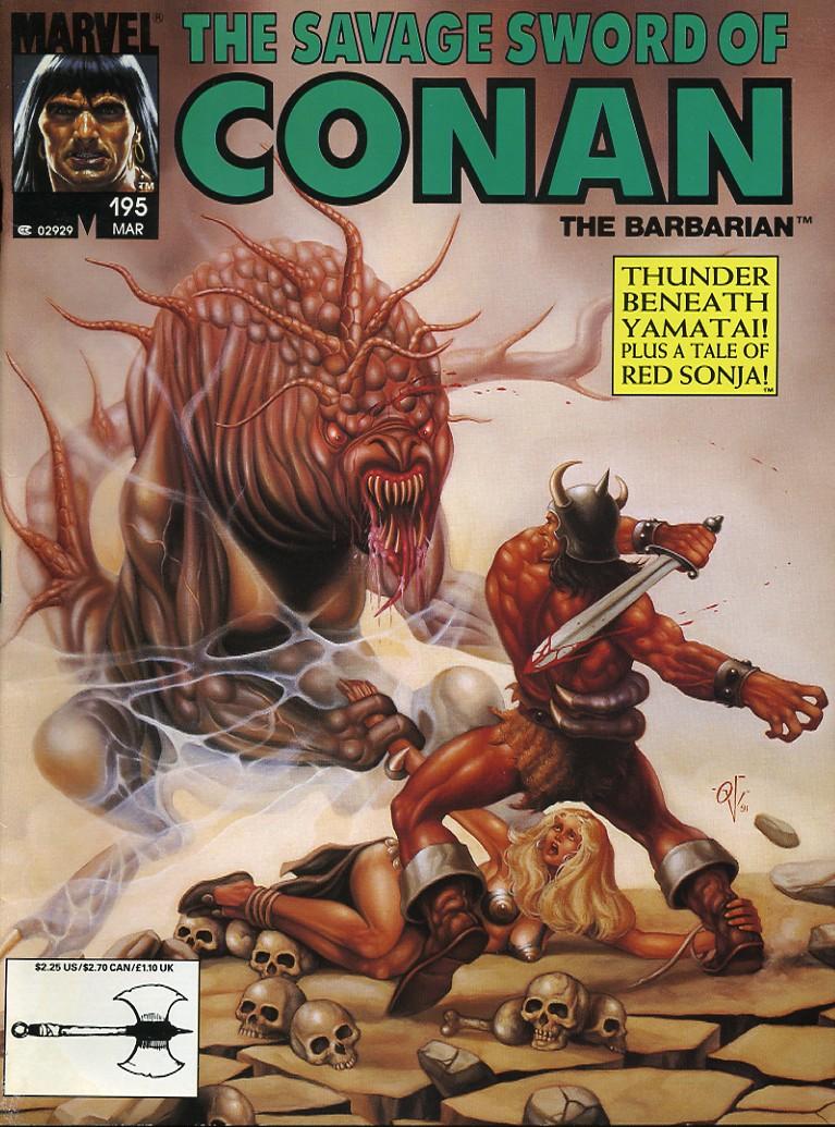 Comic The Savage Sword Of Conan issue 196