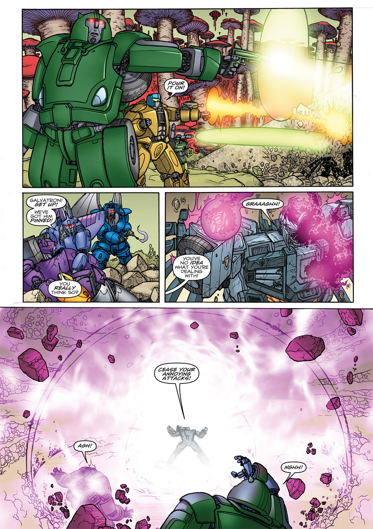 Read online Transformers: Heart of Darkness comic -  Issue #4 - 10