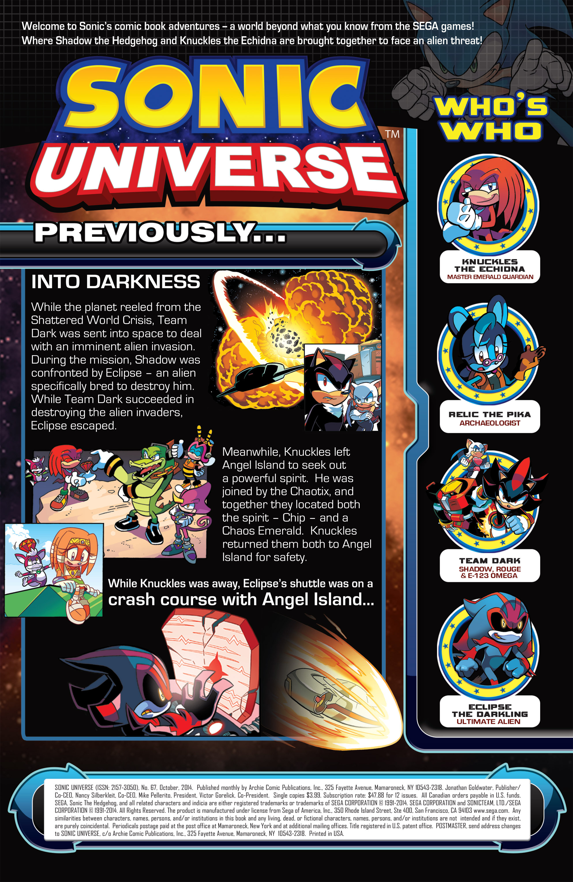Read online Sonic Universe comic -  Issue #67 - 2