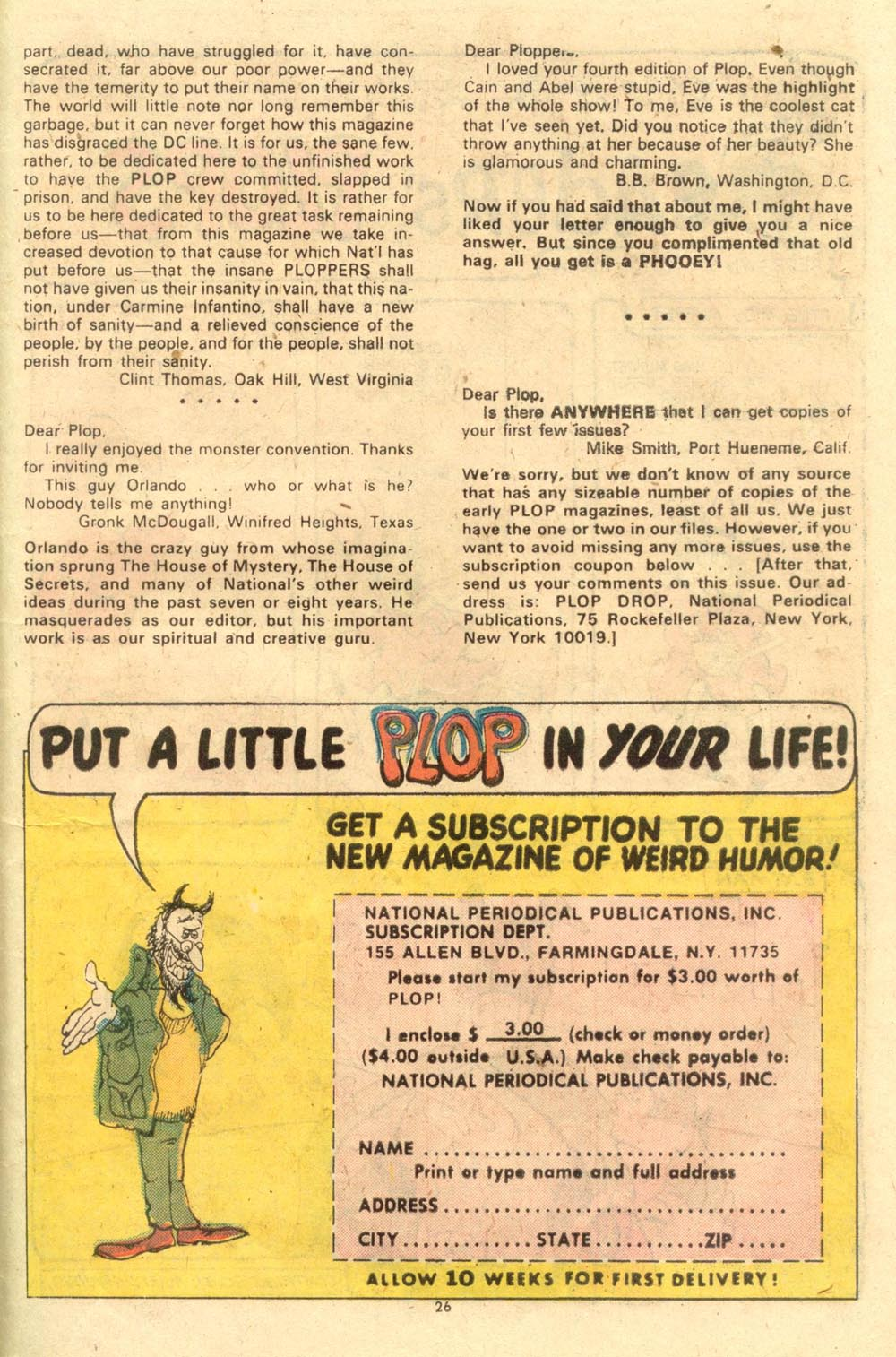 Read online Plop! comic -  Issue #7 - 27