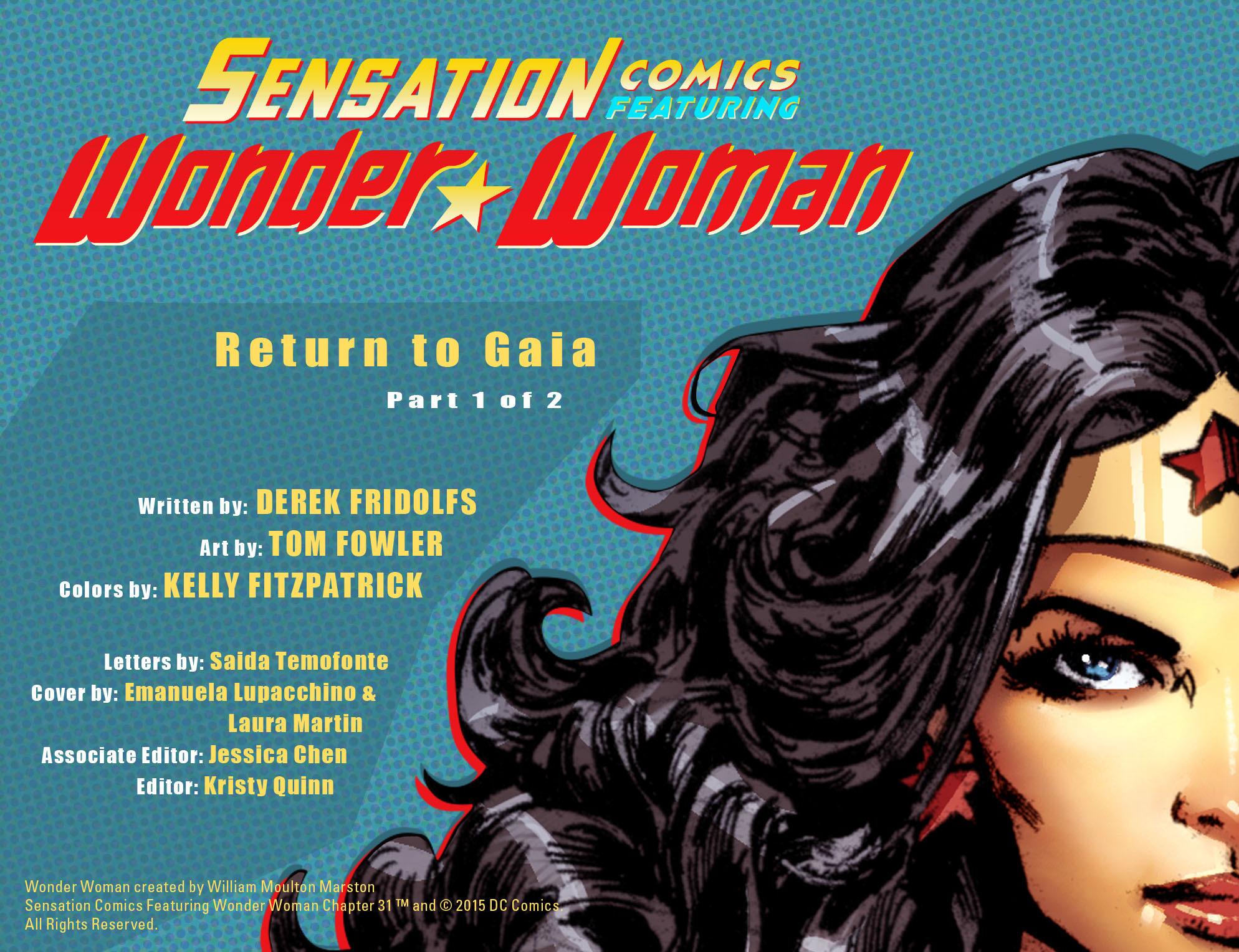 Read online Sensation Comics Featuring Wonder Woman comic -  Issue #31 - 2