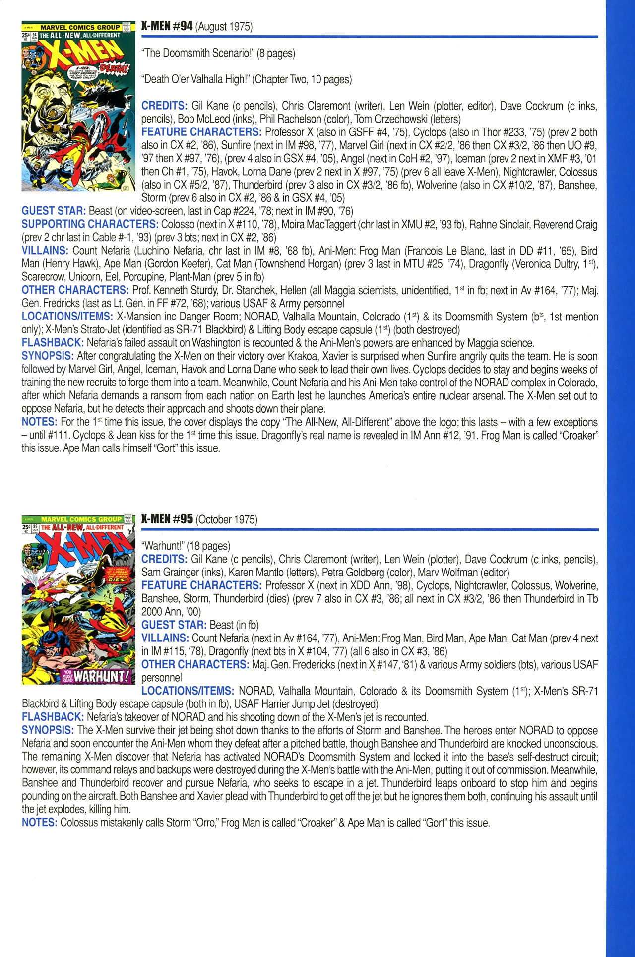 Read online Official Index to the Marvel Universe comic -  Issue #2 - 59