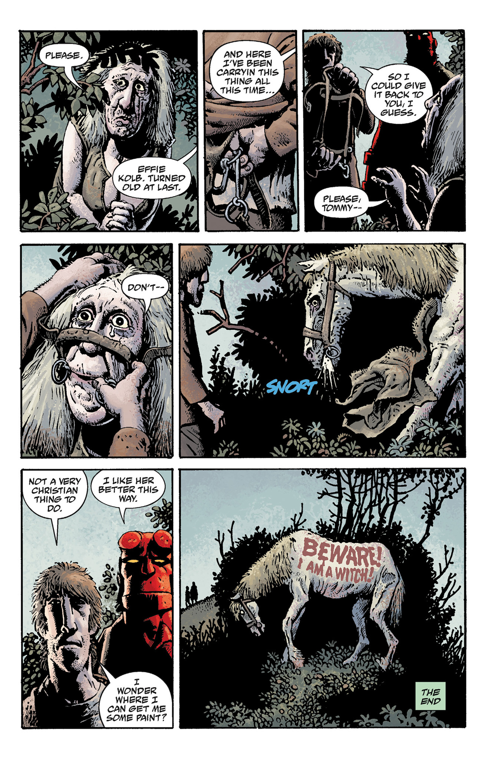 Read online Hellboy: The Crooked Man and Others comic -  Issue # TPB - 81