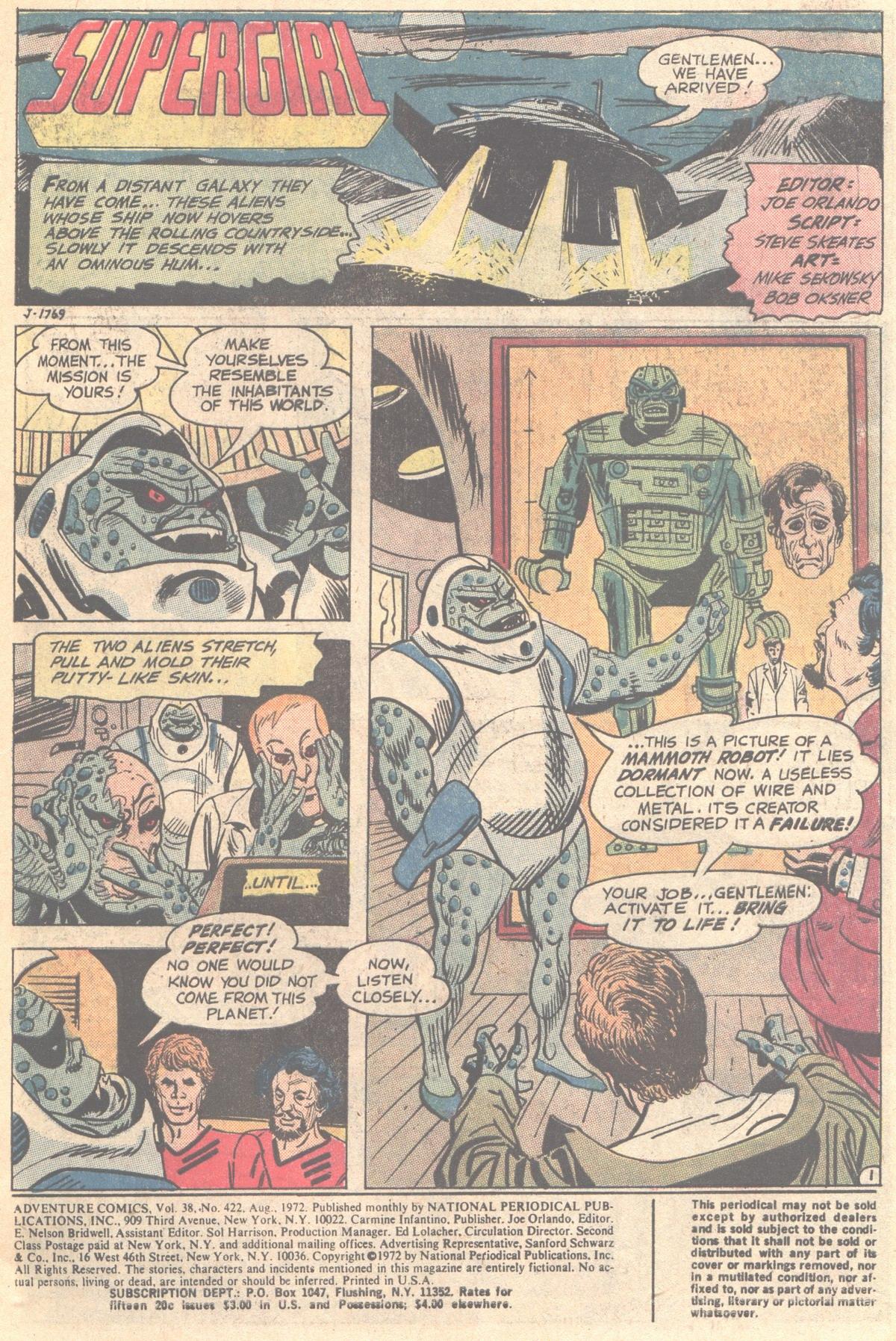 Read online Adventure Comics (1938) comic -  Issue #422 - 3
