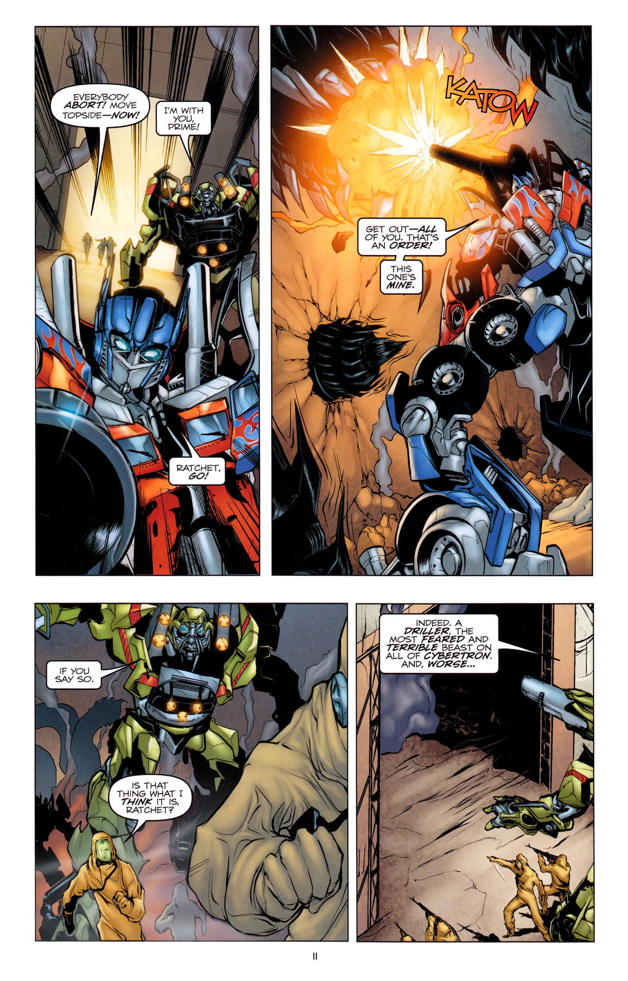 Read online Transformers: Dark of the Moon Movie Adaptation comic -  Issue #1 - 13