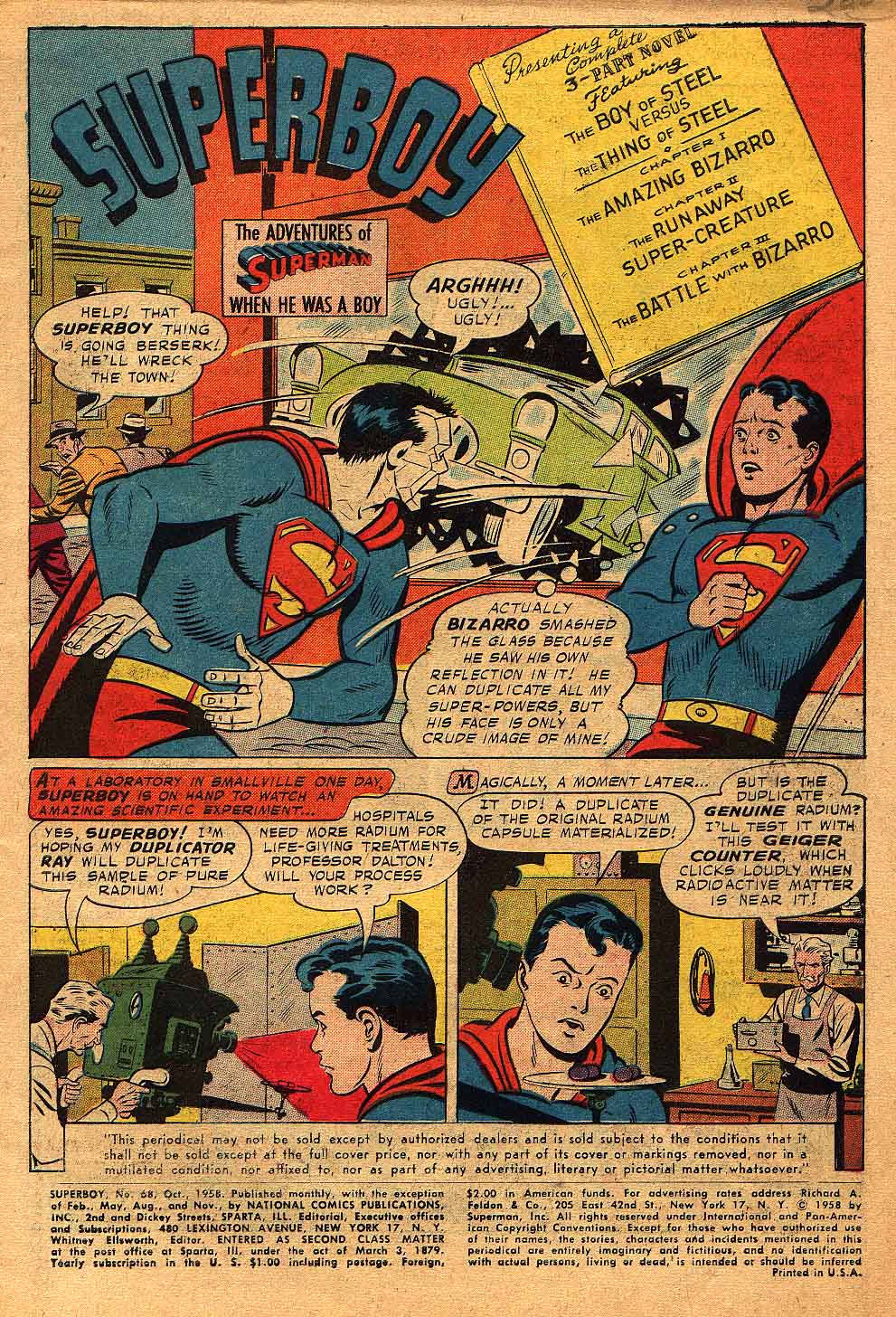 Superboy (1949) issue 68 - Page 2
