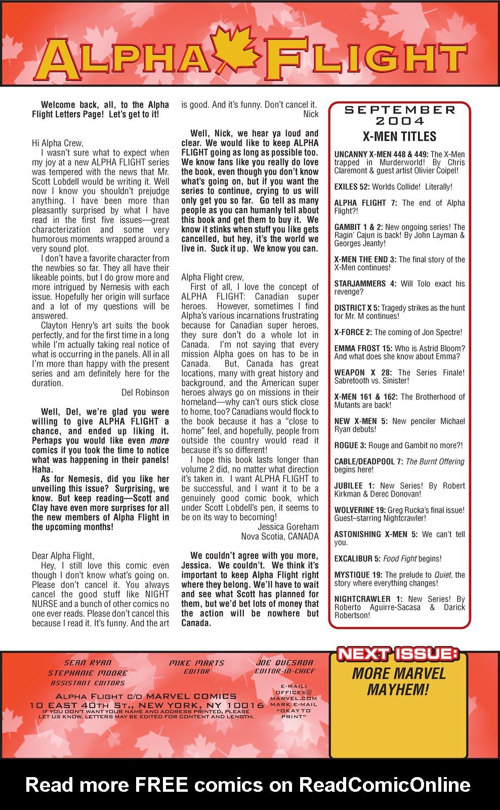 Read online Alpha Flight (2004) comic -  Issue #7 - 21