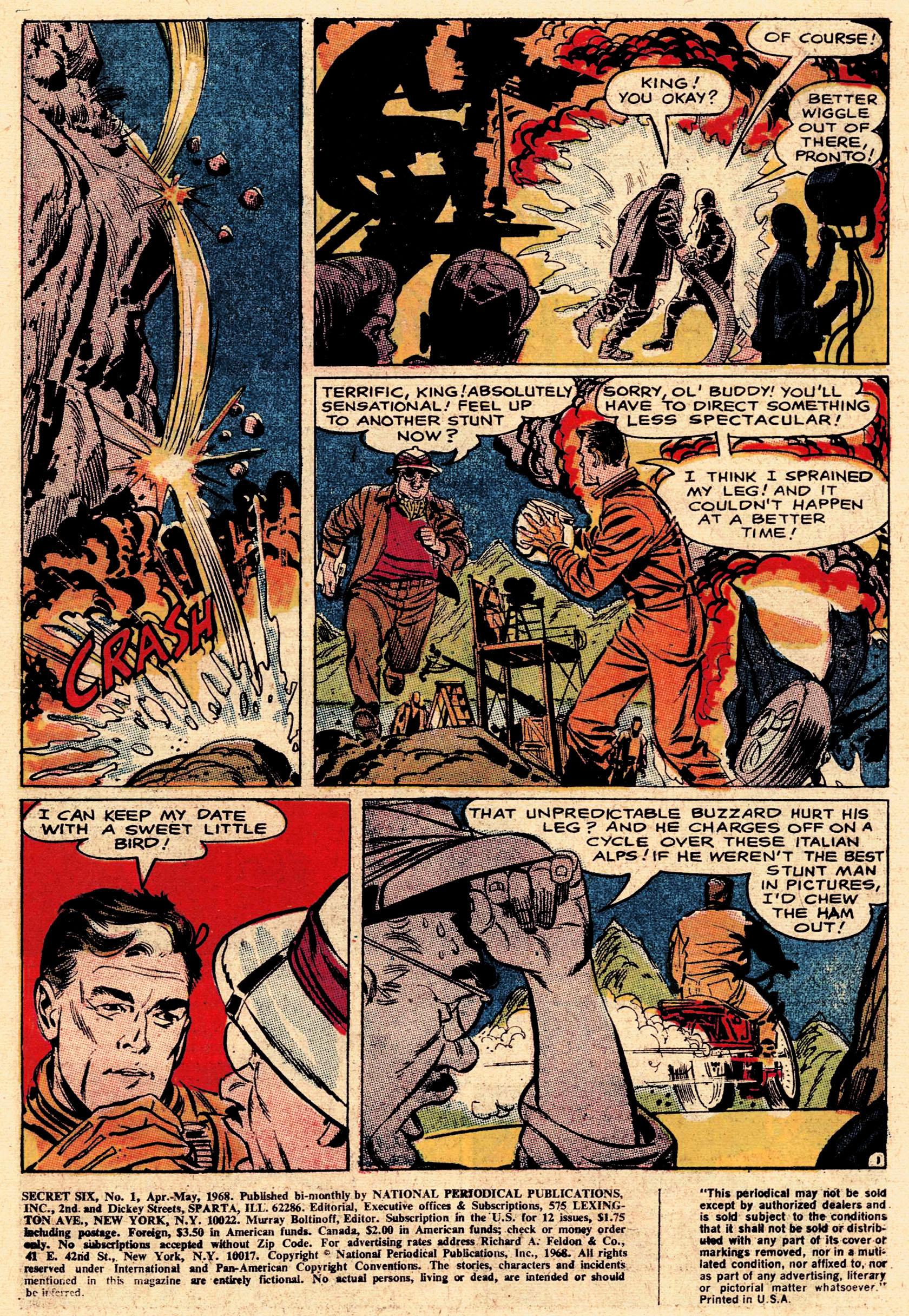Read online Secret Six (1968) comic -  Issue #1 - 3
