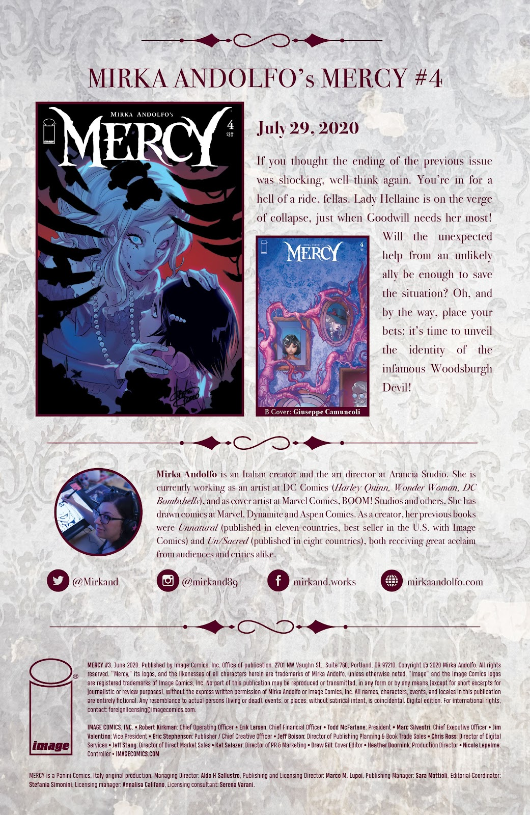 Read online Mirka Andolfo's Mercy comic -  Issue #3 - 30