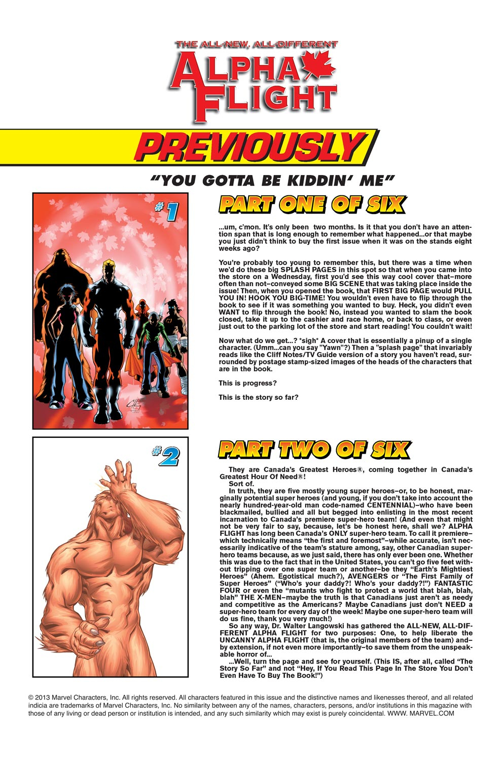 Alpha Flight (2004) issue 3 - Page 2