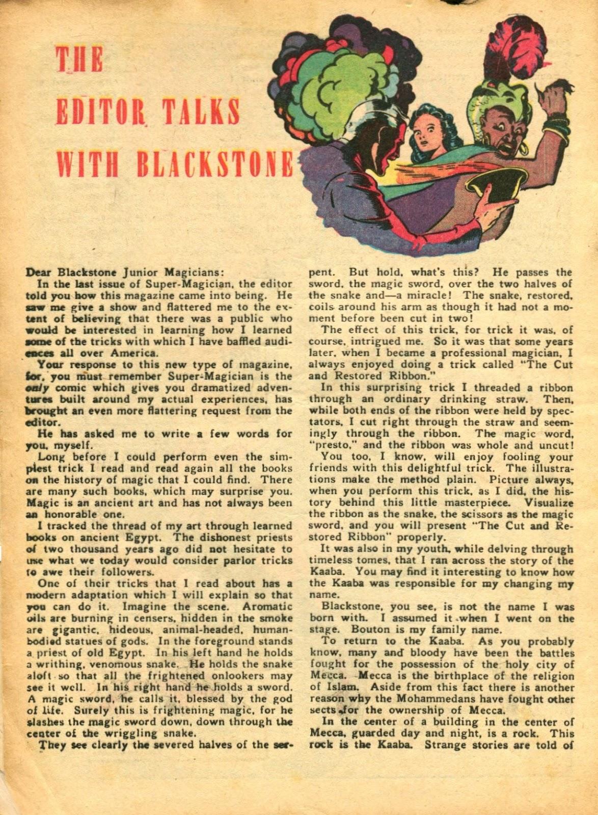 Read online Super-Magician Comics comic -  Issue #5 - 4
