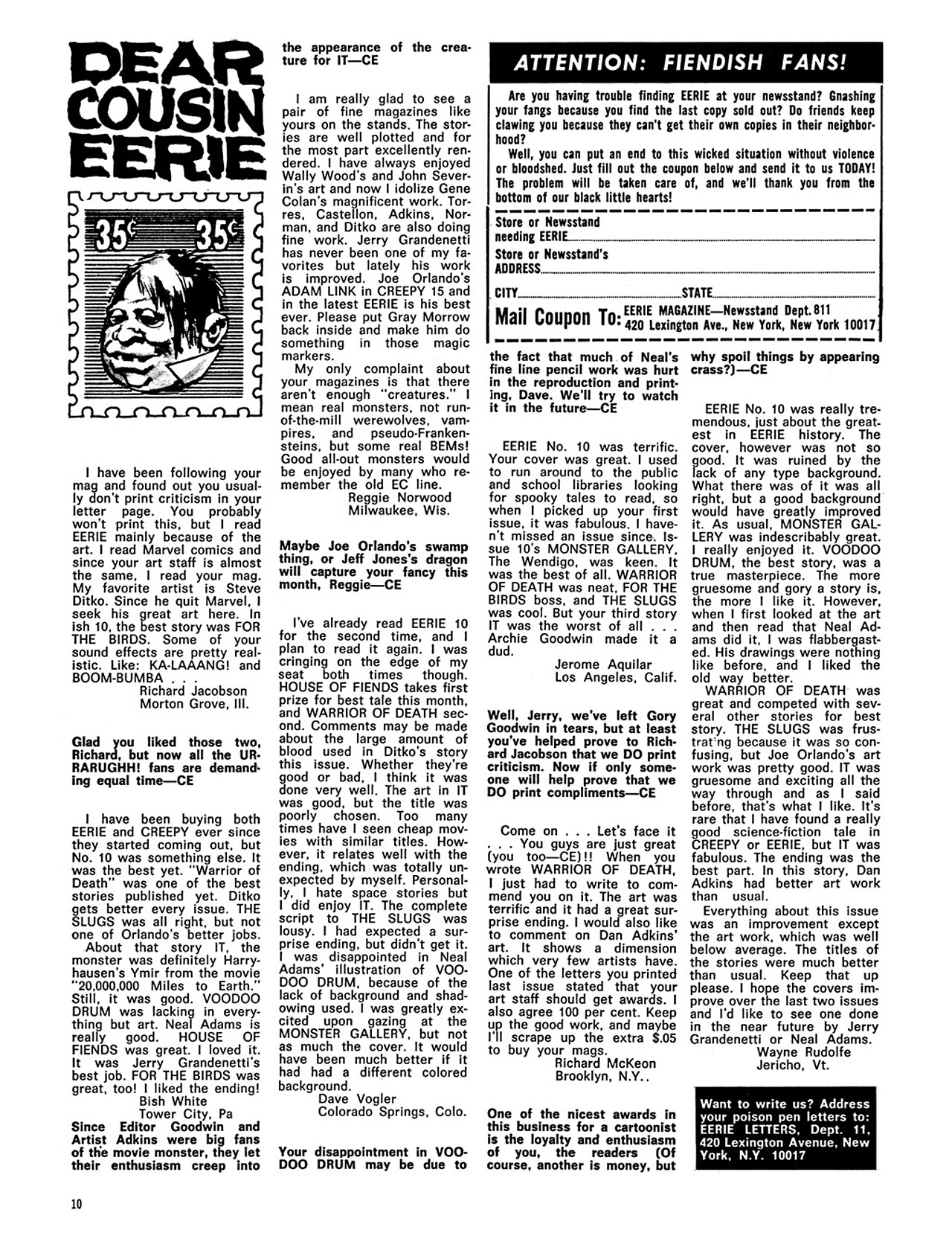 Read online Eerie Archives comic -  Issue # TPB 3 - 11